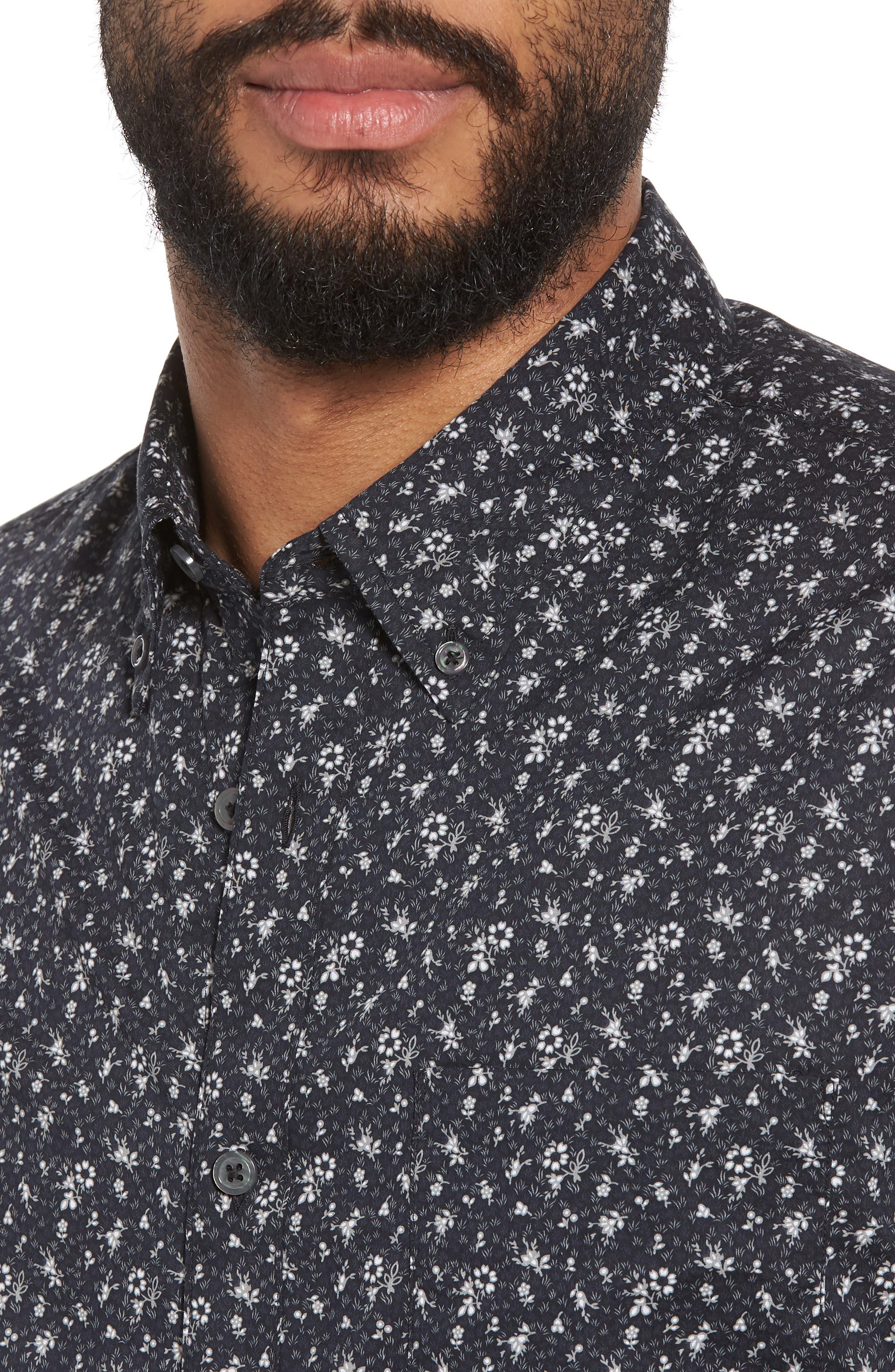 Extra Slim Fit Sport Shirt,                             Alternate thumbnail 4, color,                             012