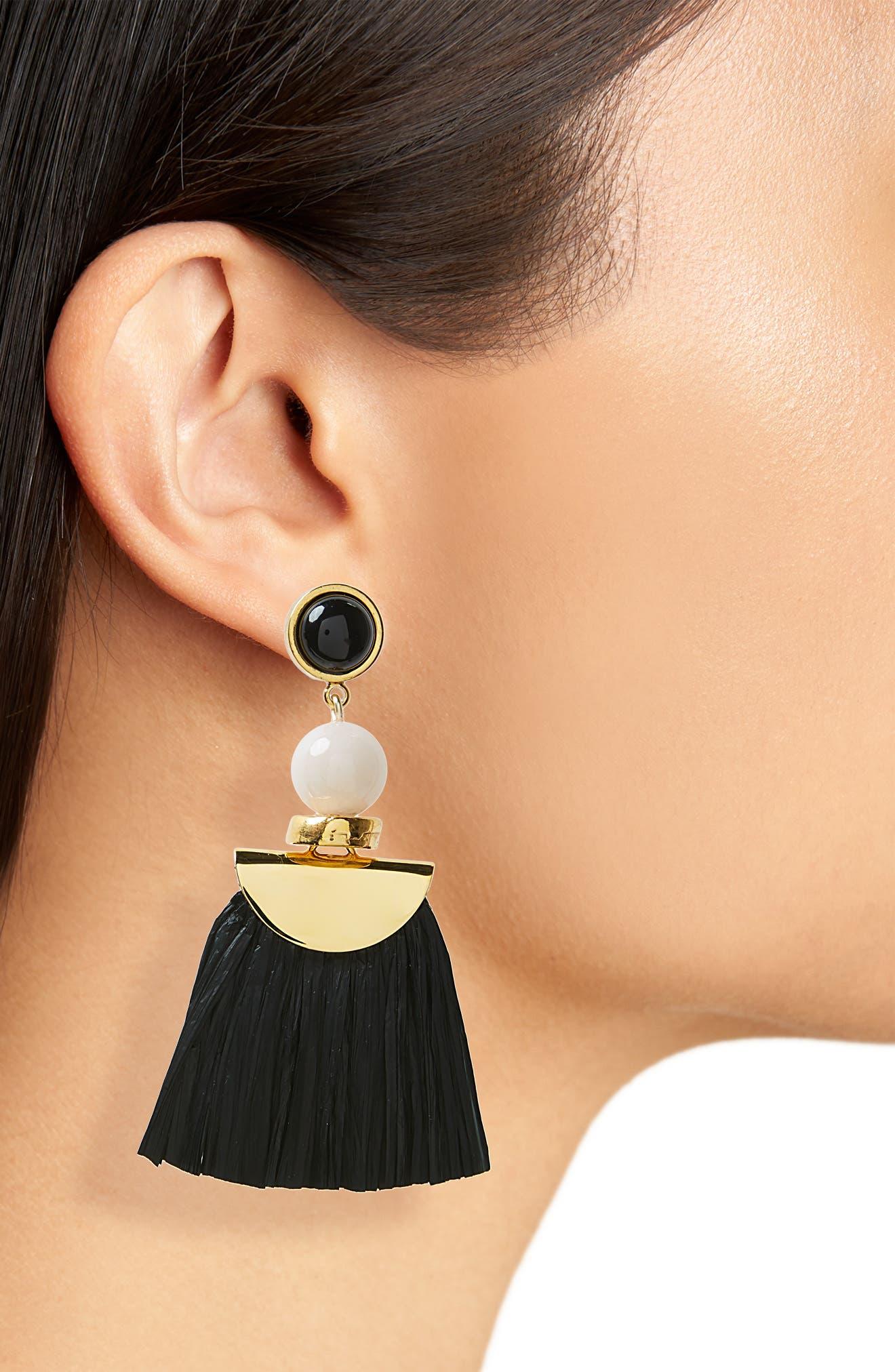 Hula Earrings,                             Alternate thumbnail 2, color,                             001