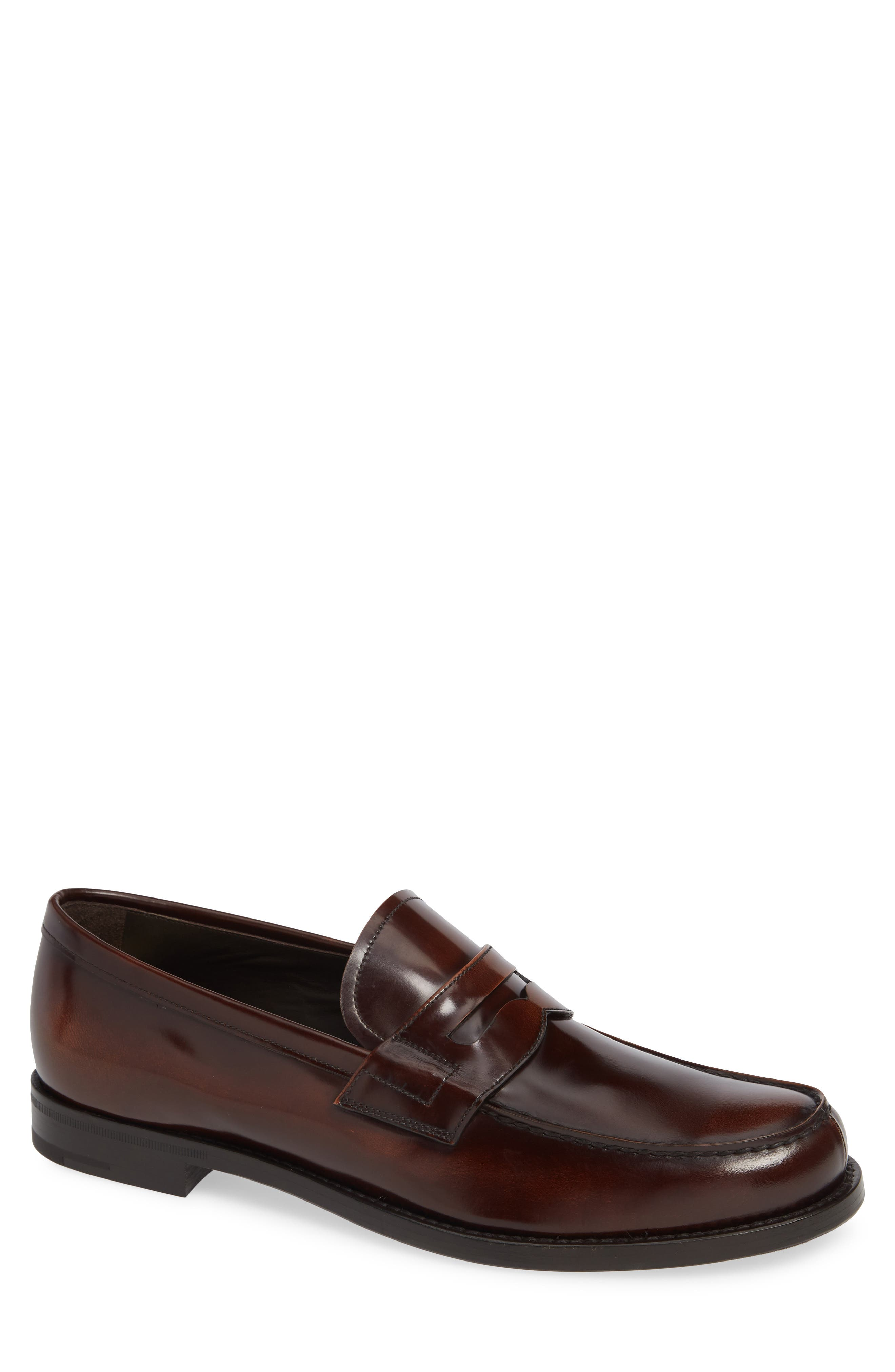 Penny Loafer,                             Main thumbnail 1, color,                             TOBACCO