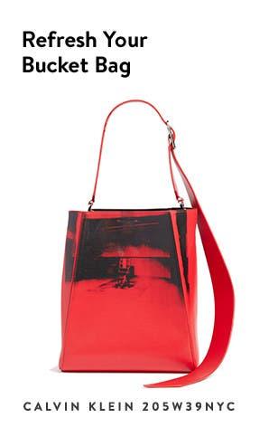 Calvin Klein 205W39NYC bucket bag.