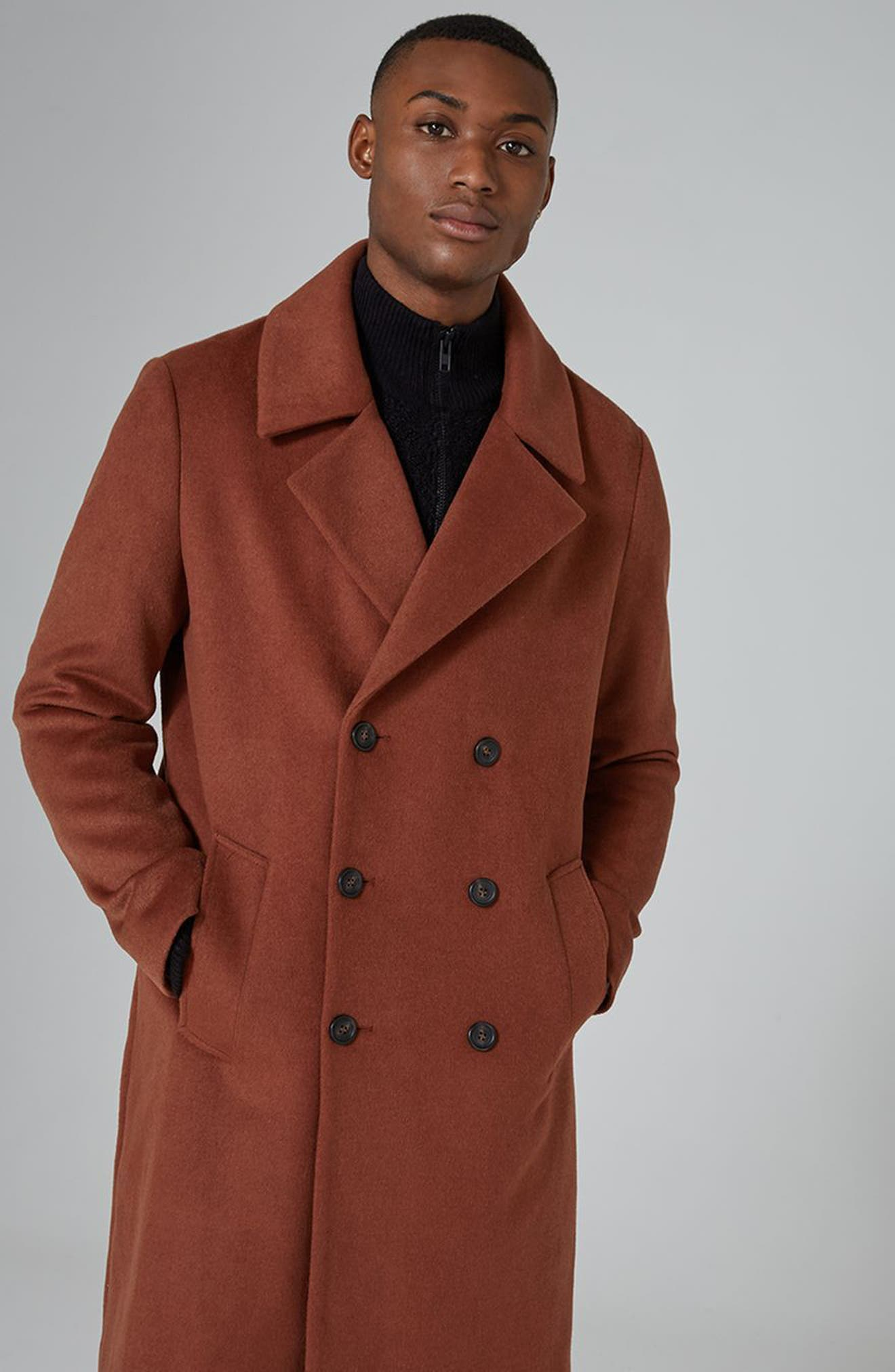 Oversize Double Breated Coat,                             Alternate thumbnail 7, color,