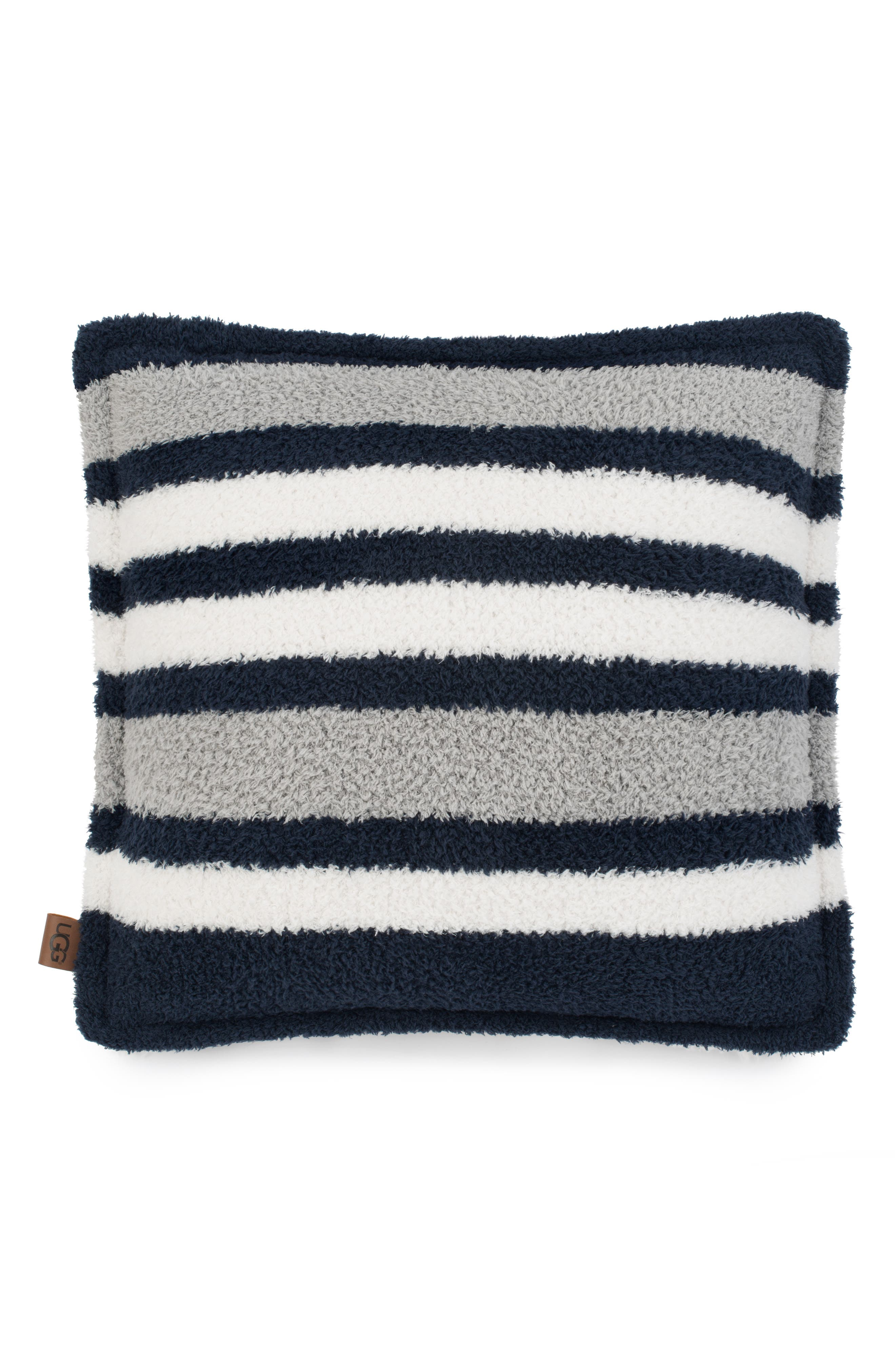 Ana Stripe Accent Pillow,                         Main,                         color, NAVY MULTI