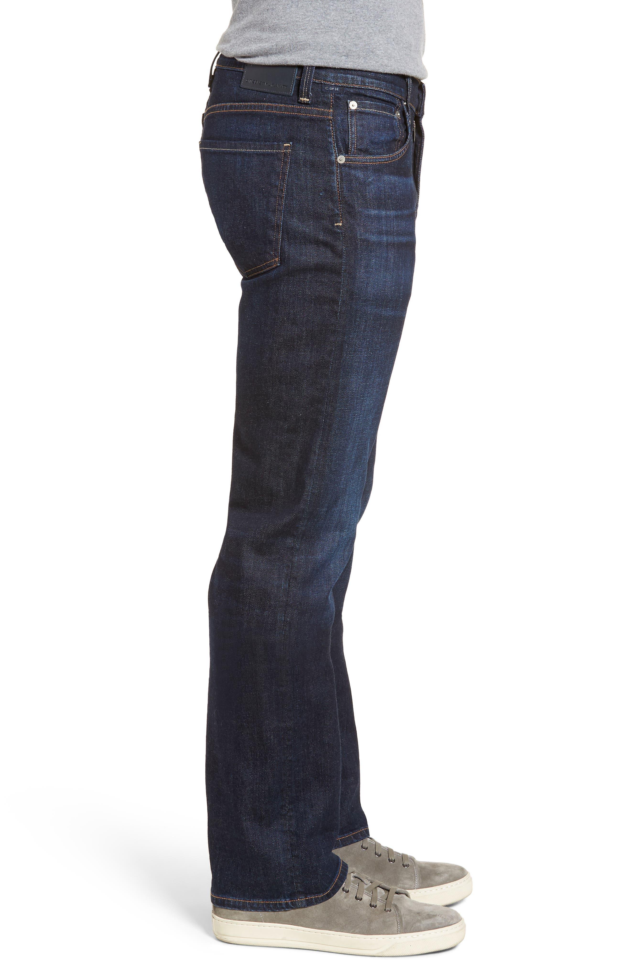 Sid Straight Leg Jeans,                             Alternate thumbnail 3, color,                             EMERY