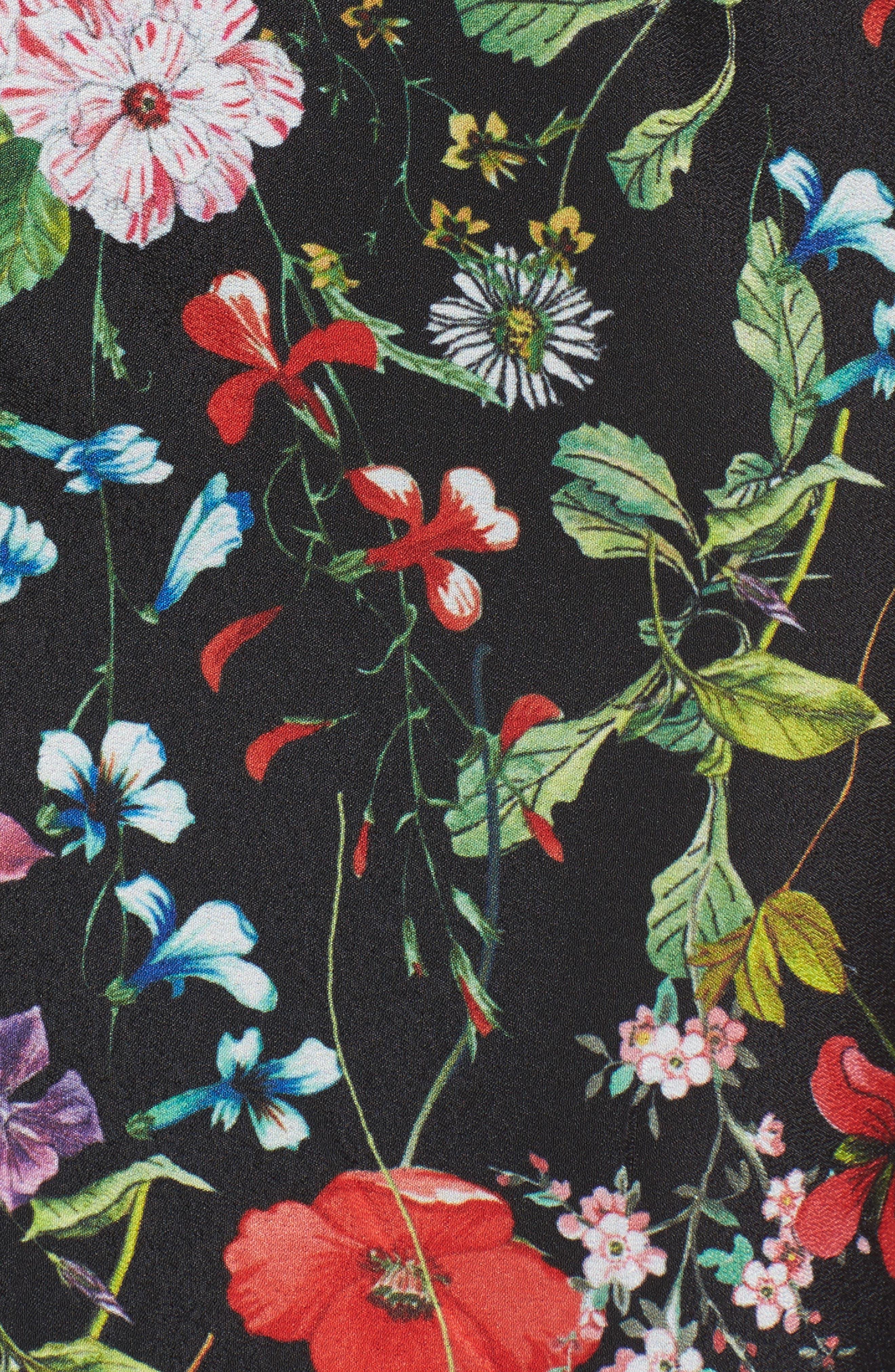 Bloom Print Shirtdress,                             Alternate thumbnail 5, color,                             001