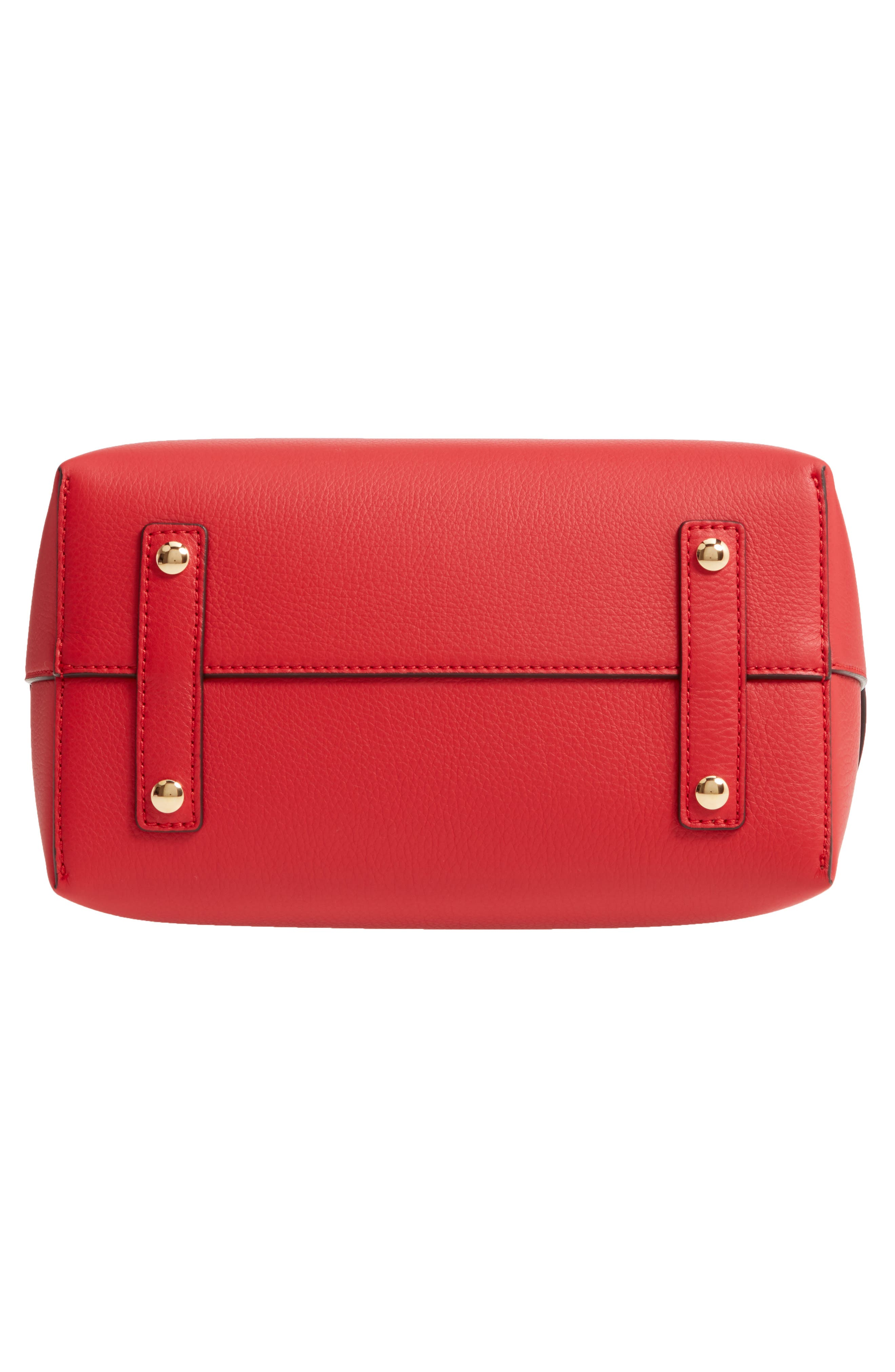 BURBERRY,                             Small Belt Leather Satchel,                             Alternate thumbnail 7, color,                             BRIGHT MILITARY RED