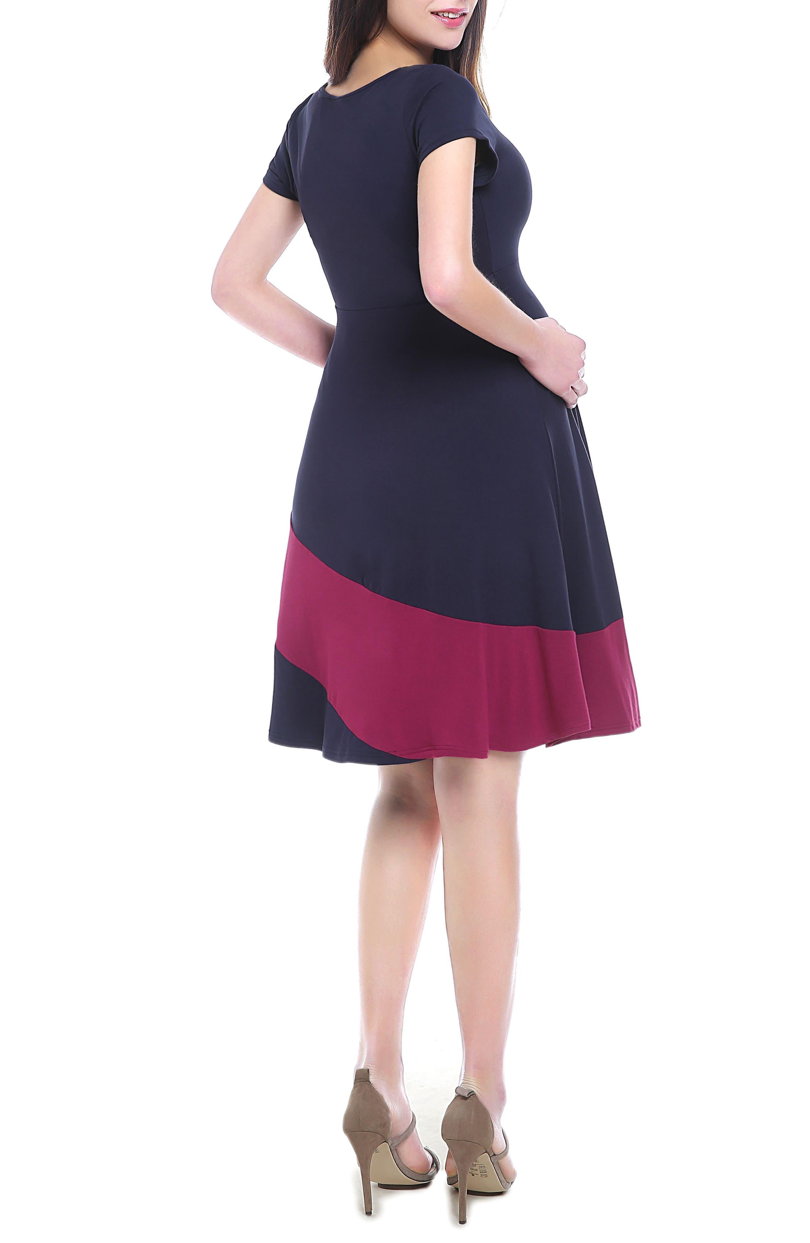 June Maternity Babydoll Dress,                             Alternate thumbnail 2, color,