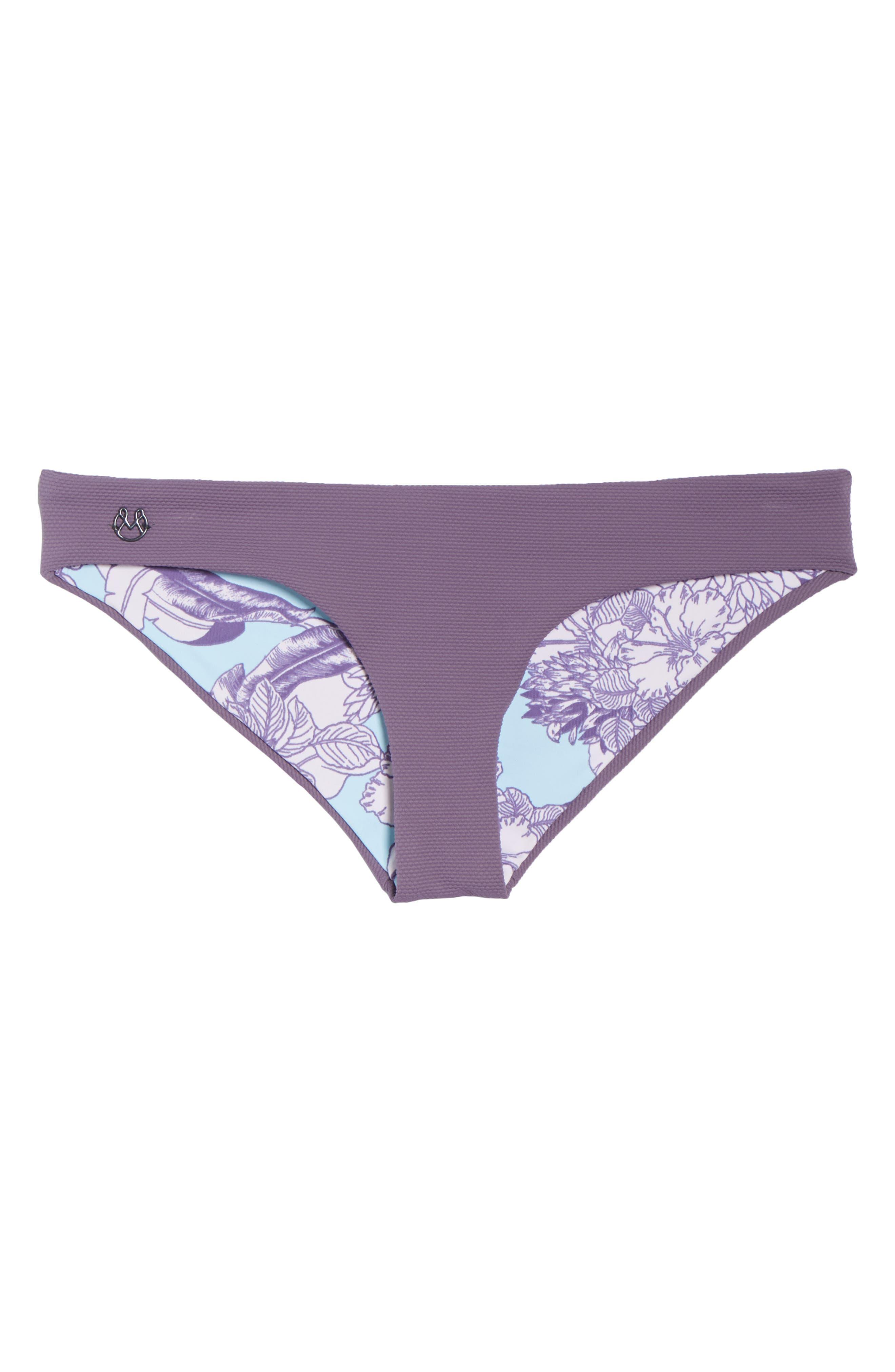 Purple Sage Sublime Signature Reversible Bikini Bottoms,                             Alternate thumbnail 7, color,