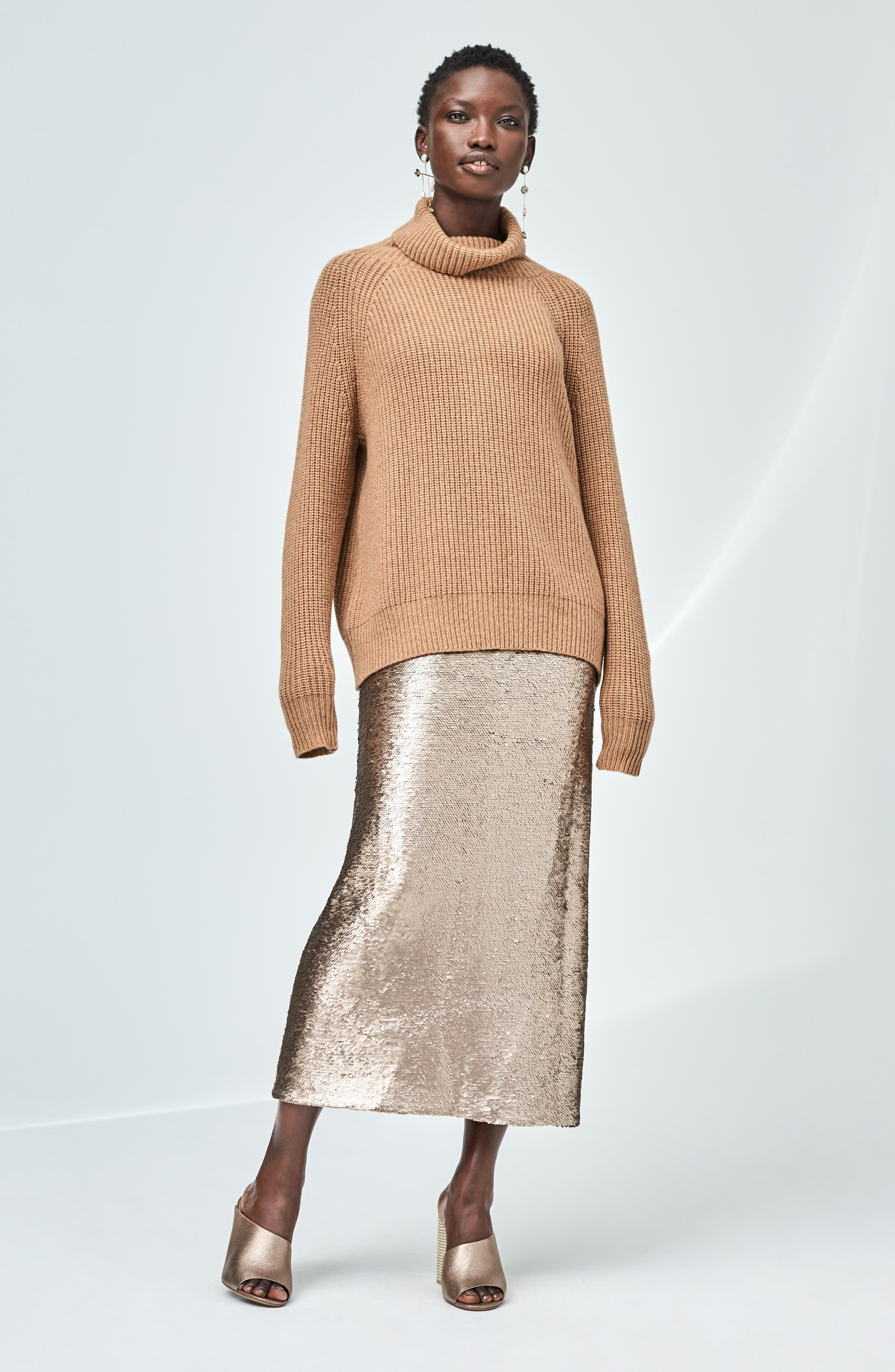 NILI LOTAN,                             Anitra Rib Knit Turtleneck Sweater,                             Alternate thumbnail 7, color,                             261