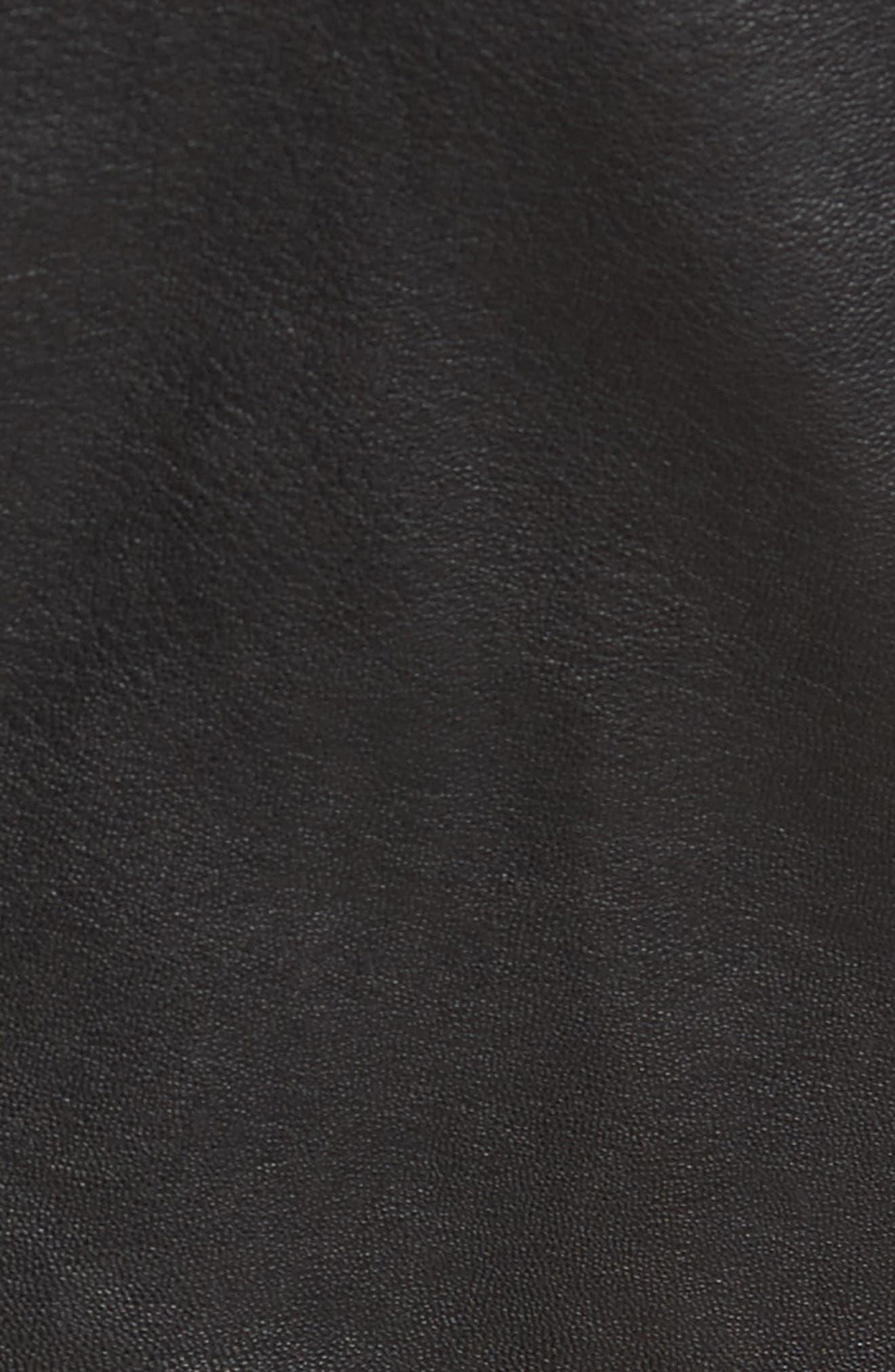 Reversible Leather Puffer Vest,                             Alternate thumbnail 7, color,                             001