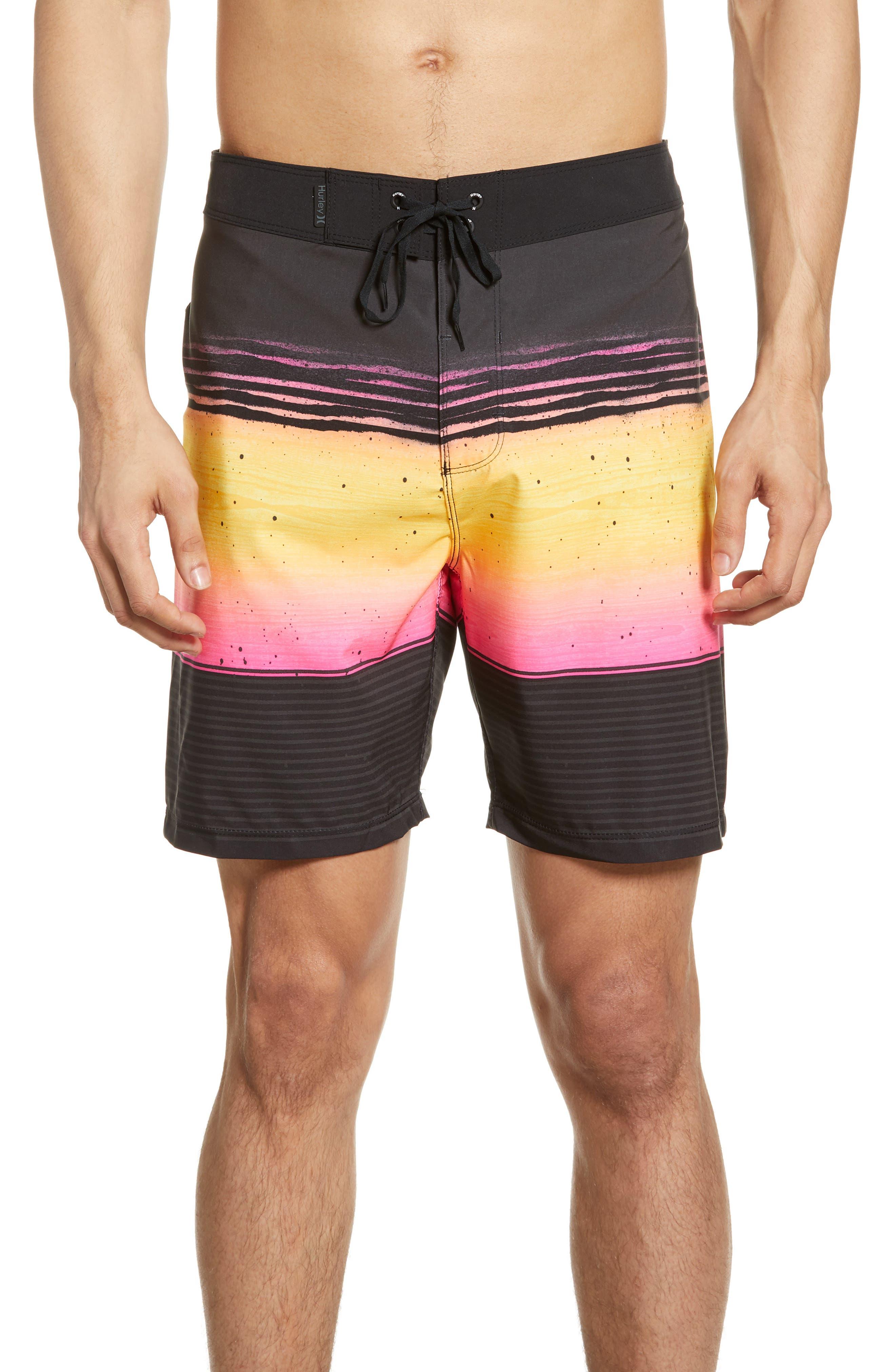 Hurley Phantom Overspray Board Shorts, Black