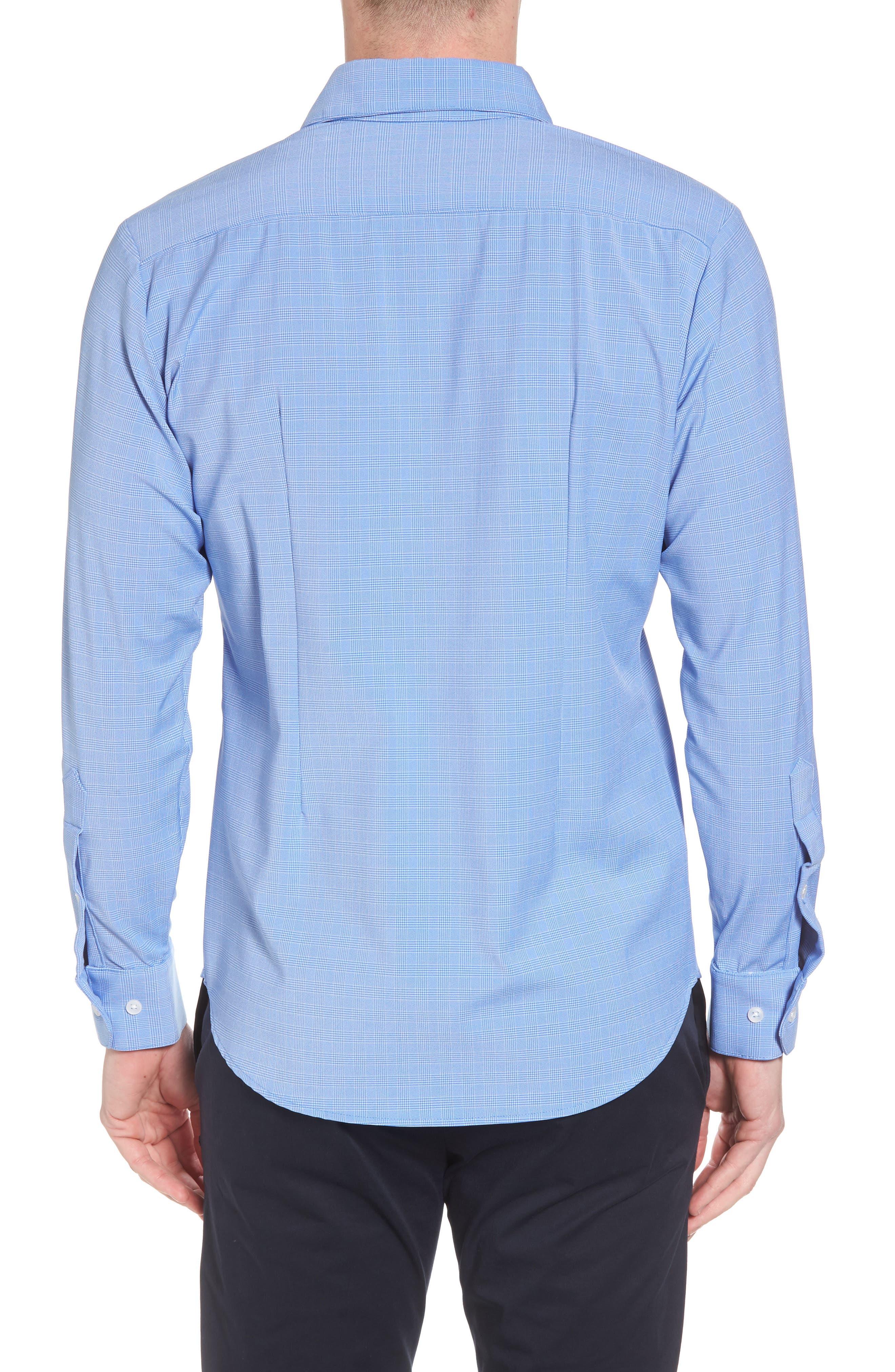 Maverick Slim Fit Plaid Sport Shirt,                             Alternate thumbnail 2, color,                             BLUE