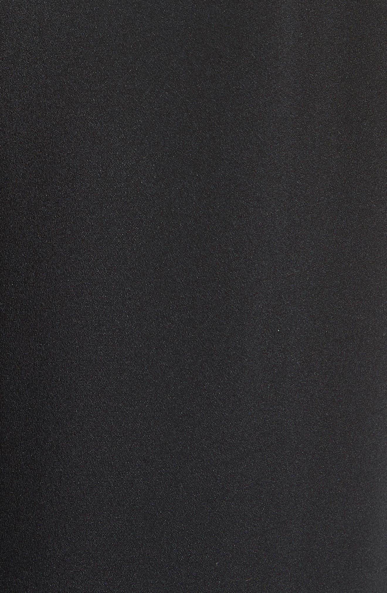 Slit Silk High Waisted Pants,                             Alternate thumbnail 5, color,                             001