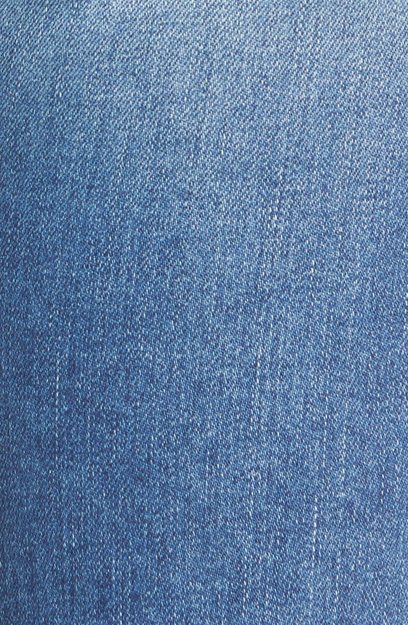 Tilda Crop Straight Leg Jeans,                             Alternate thumbnail 5, color,                             425