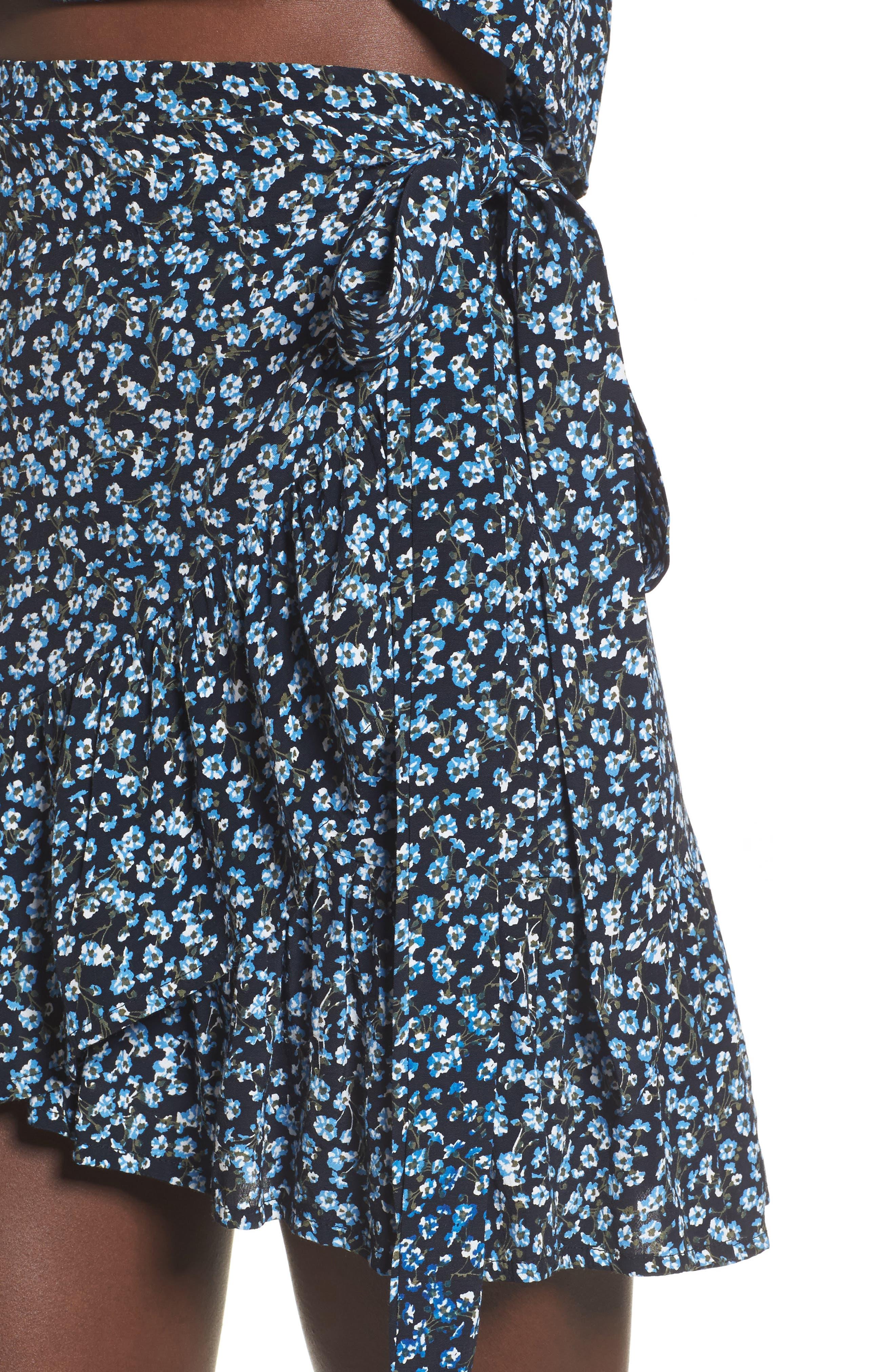 Gilda Floral Skirt,                             Alternate thumbnail 4, color,