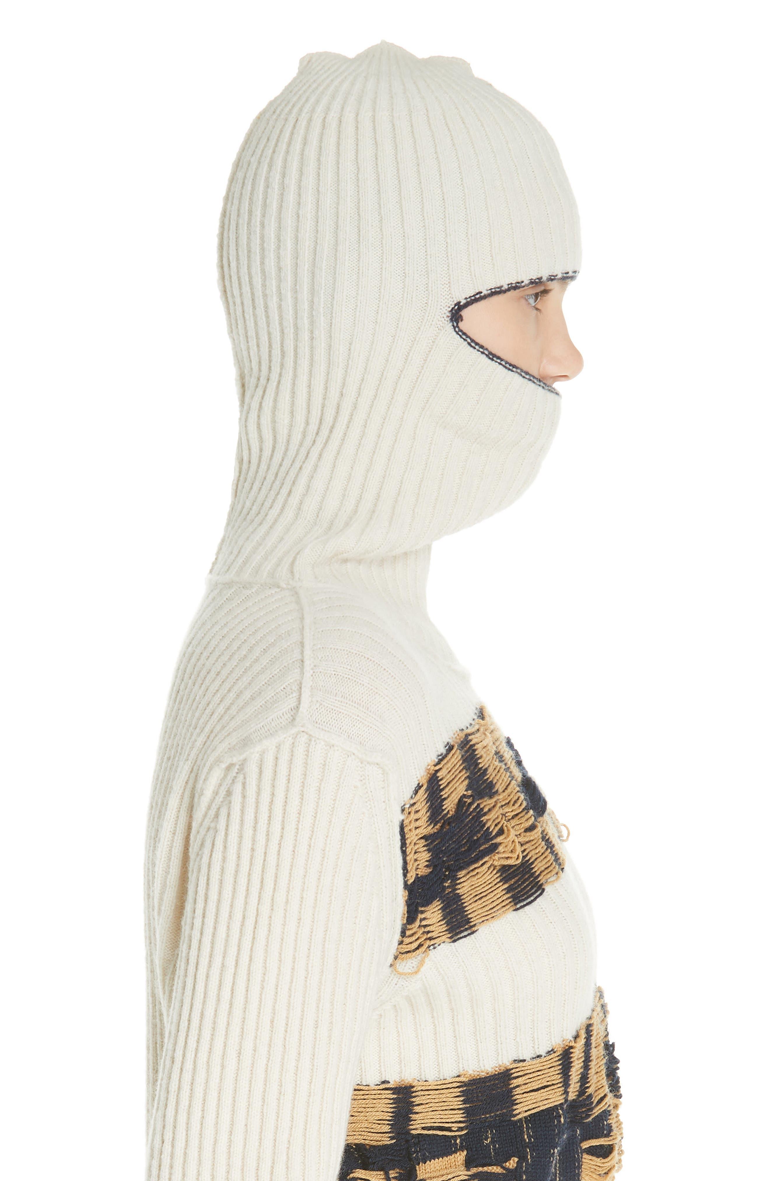 Quilt Jacquard Stripe Sweater,                             Alternate thumbnail 4, color,                             ECRU HAY NAVY