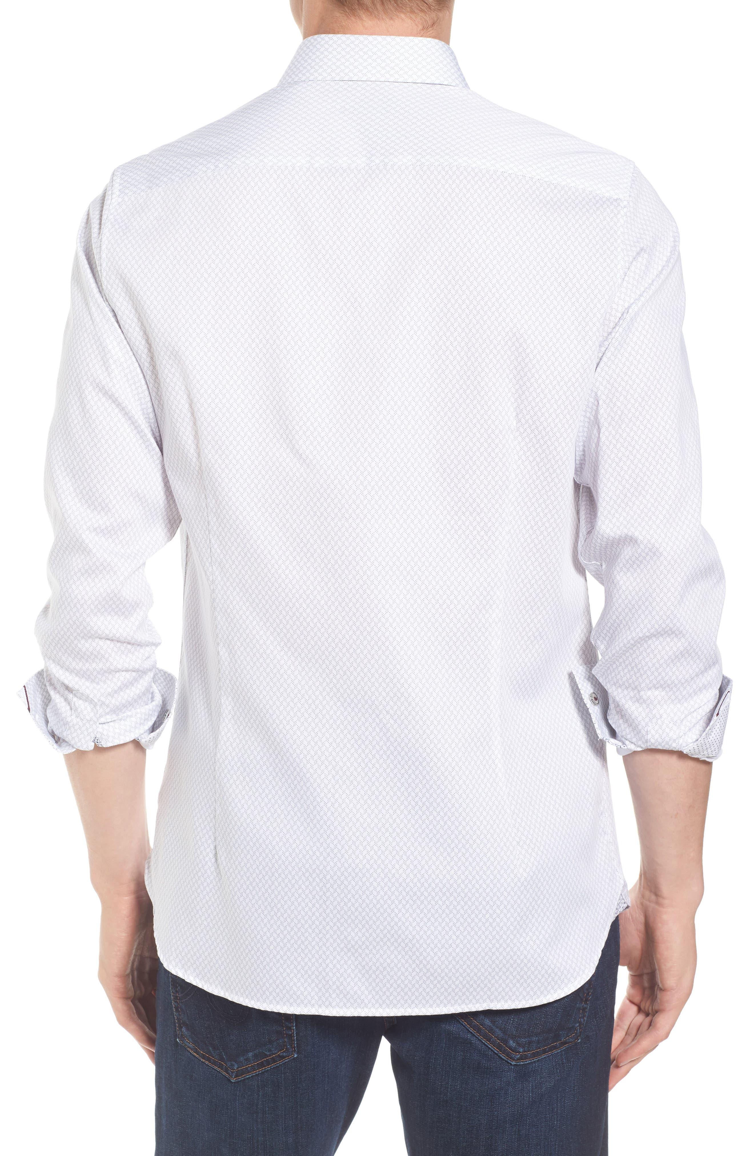 Modern Slim Fit Print Sport Shirt,                             Alternate thumbnail 2, color,                             110