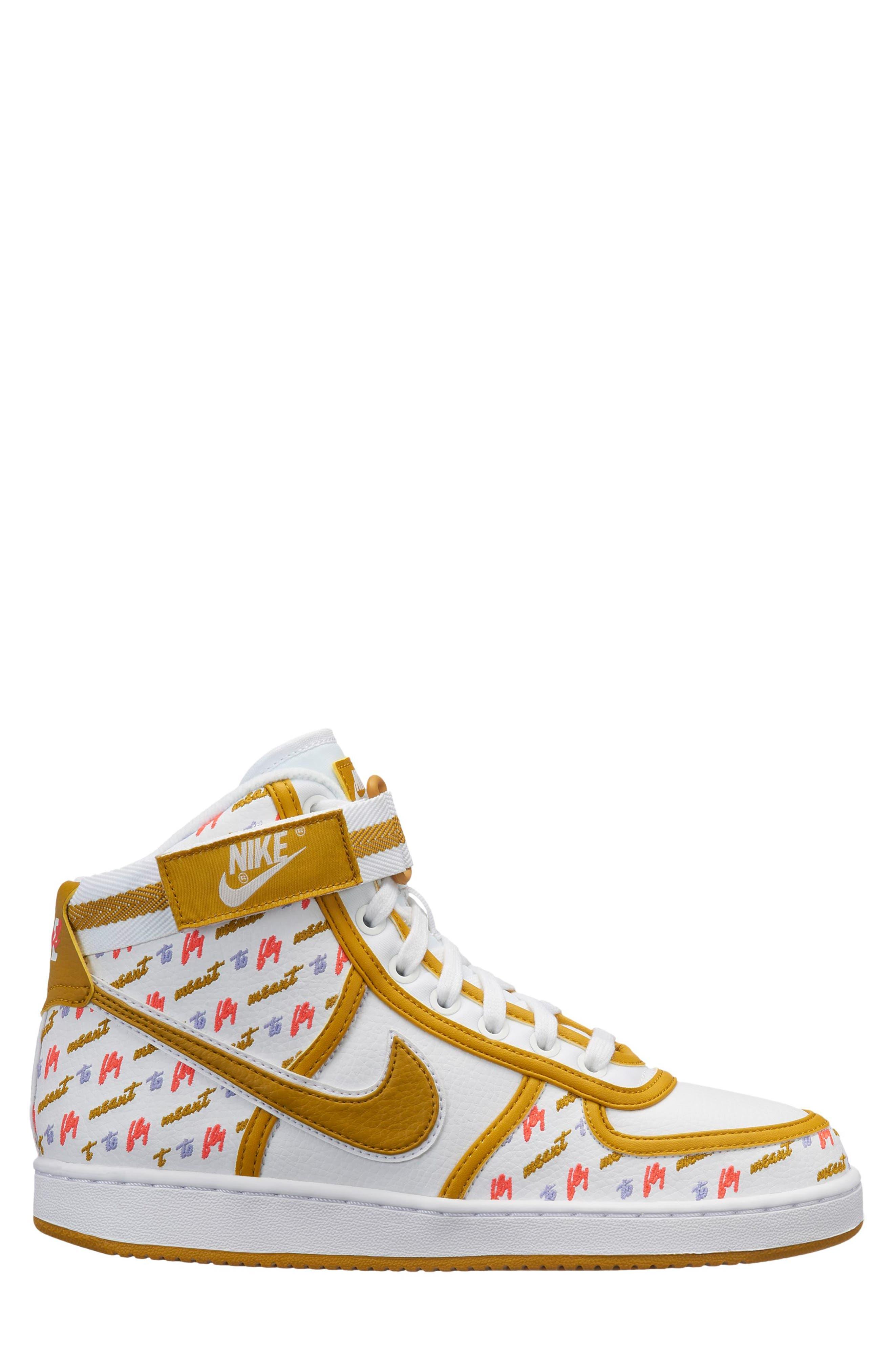 Vandal High Lux Sneaker,                             Main thumbnail 1, color,                             WHITE/ CITRON/ TWILIGHT PULSE