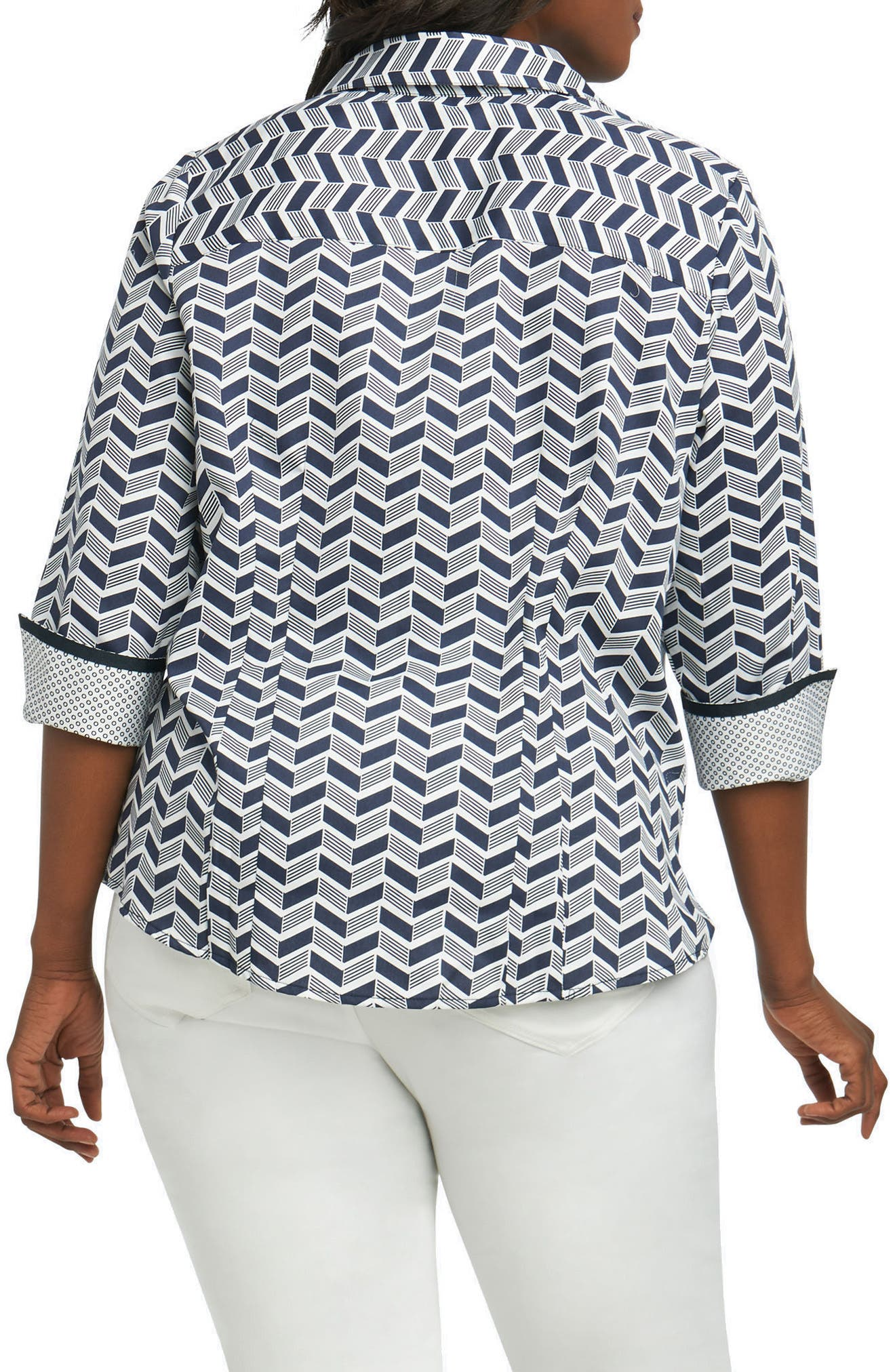 Taylor Chevron Non Iron Cotton Shirt,                             Alternate thumbnail 2, color,