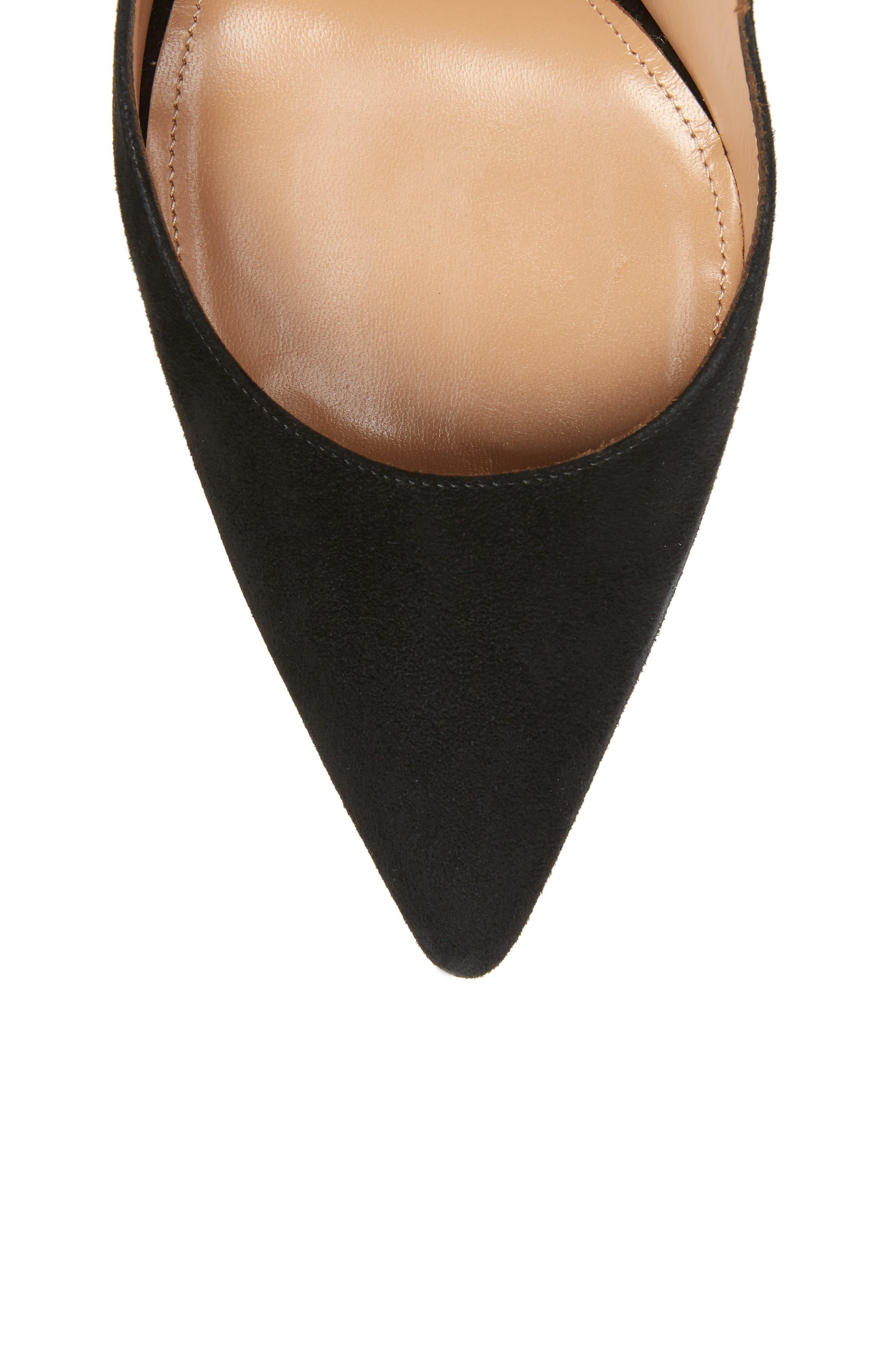 Milano Ankle Tie Pump,                             Alternate thumbnail 5, color,                             BLACK