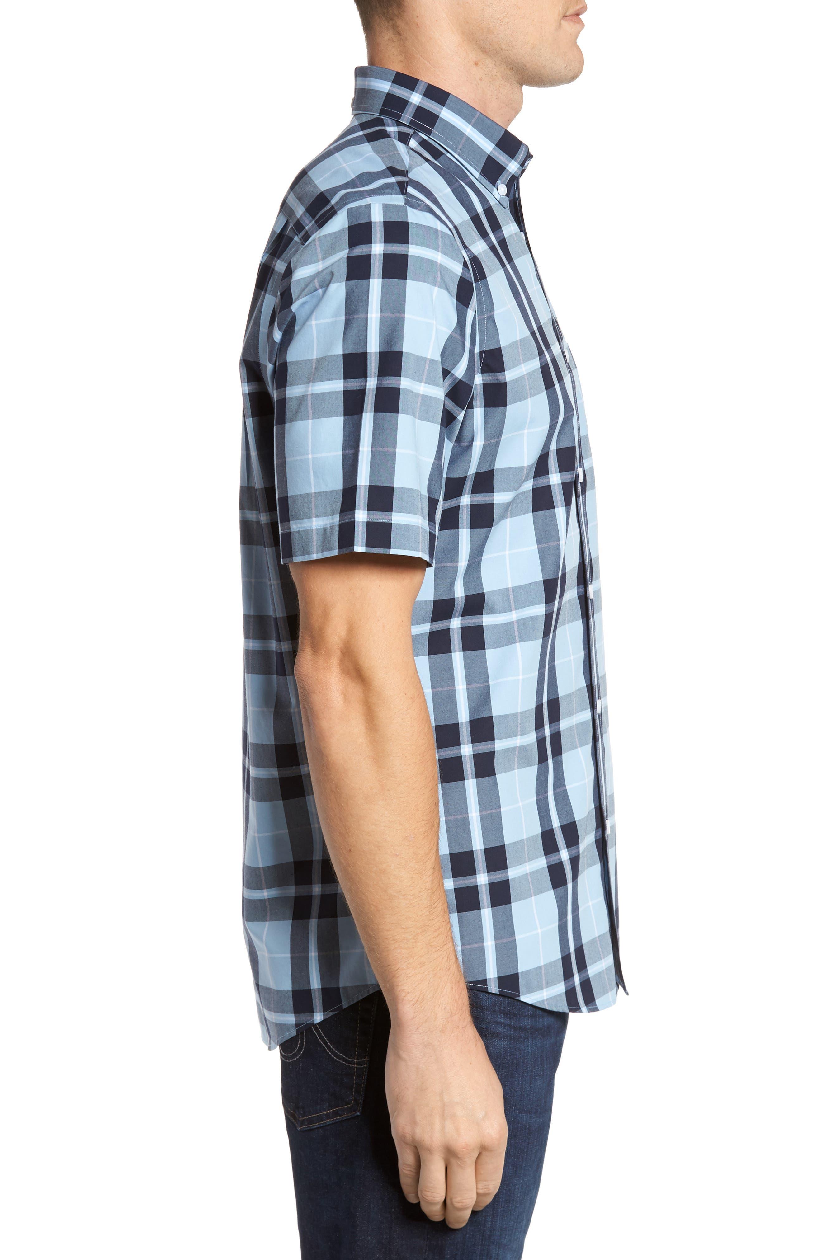 Smartcare<sup>™</sup> Regular Fit Plaid Sport Shirt,                             Alternate thumbnail 10, color,