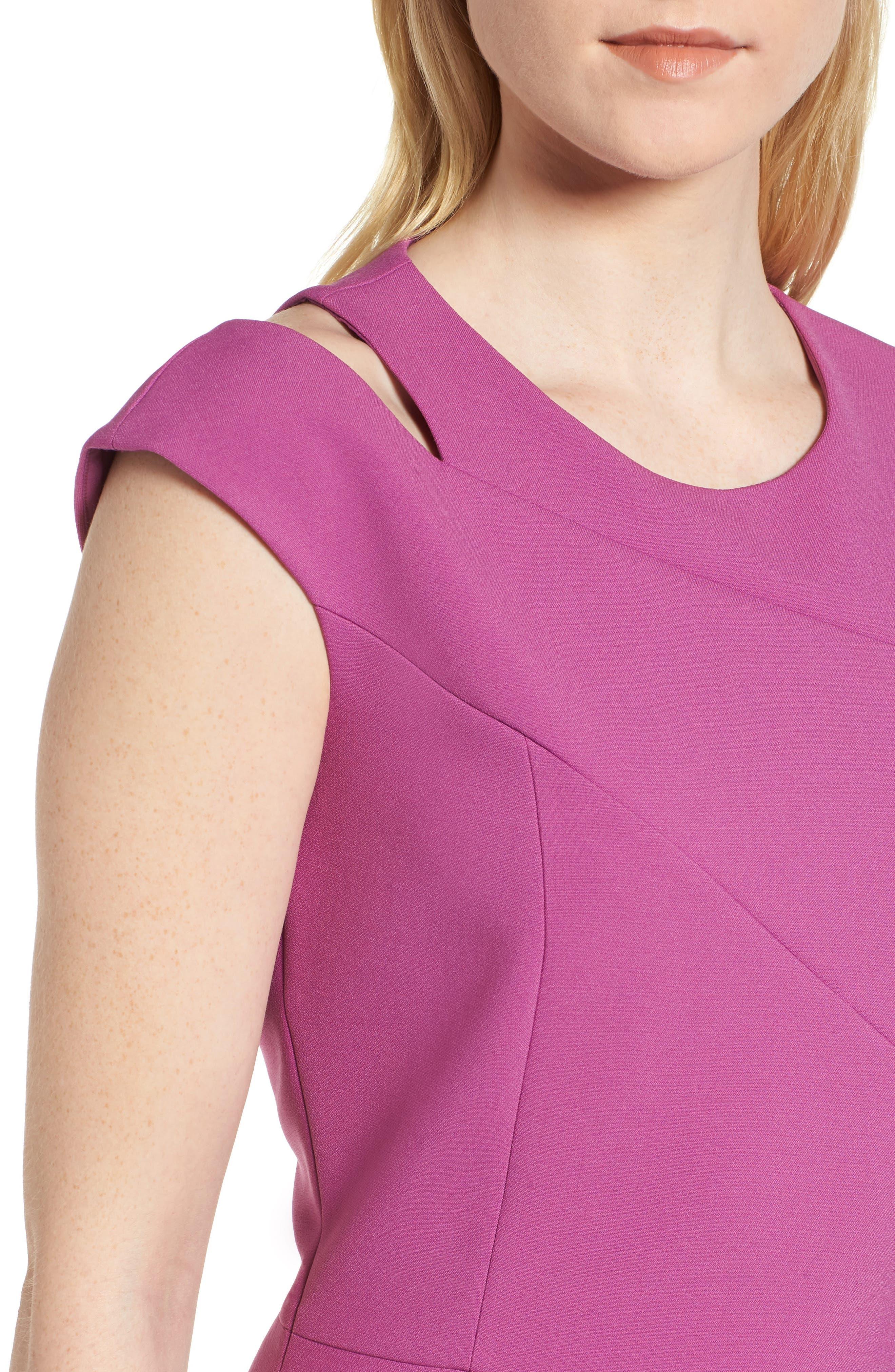 Danouk Ponte Sheath Dress,                             Alternate thumbnail 4, color,                             511