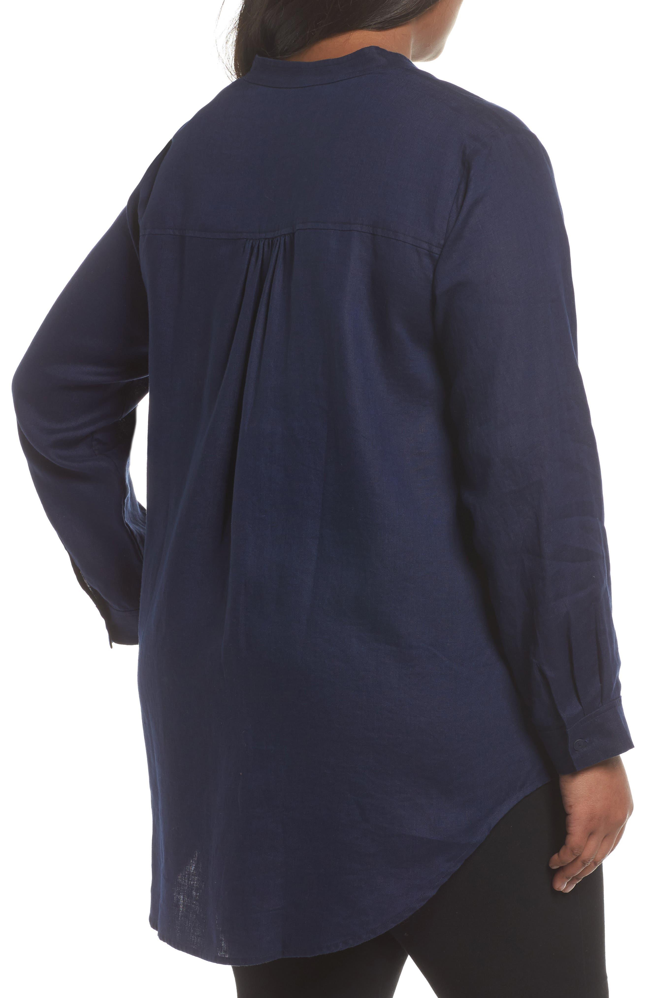 Organic Linen Tunic Shirt,                             Alternate thumbnail 6, color,