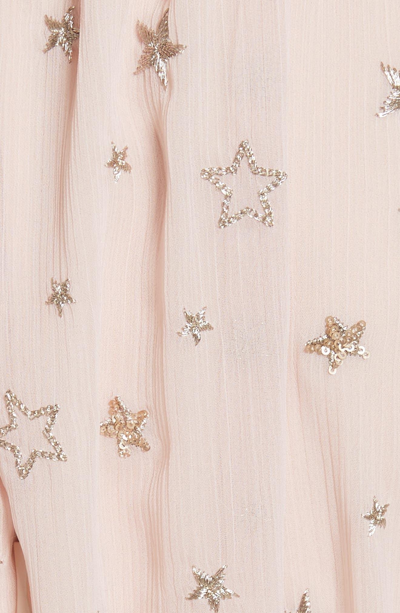 amada embellished midi dress,                             Alternate thumbnail 5, color,