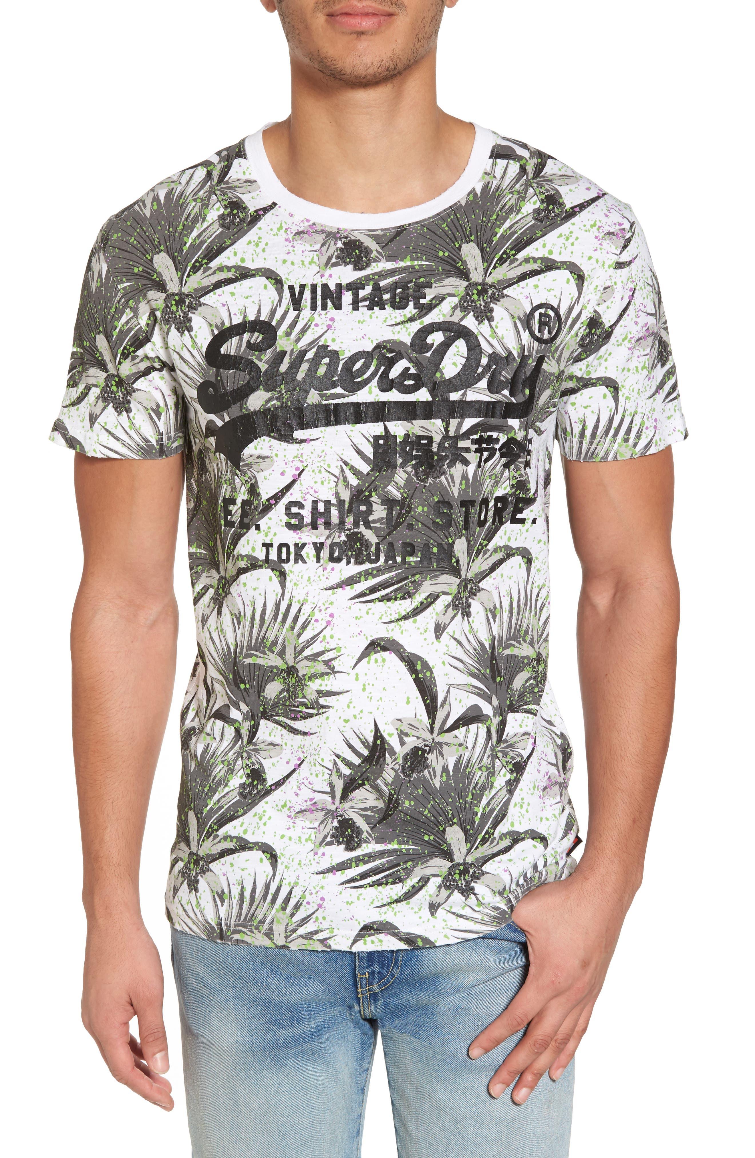 Shirt Shop Aop T-Shirt,                             Main thumbnail 1, color,                             OPTIC