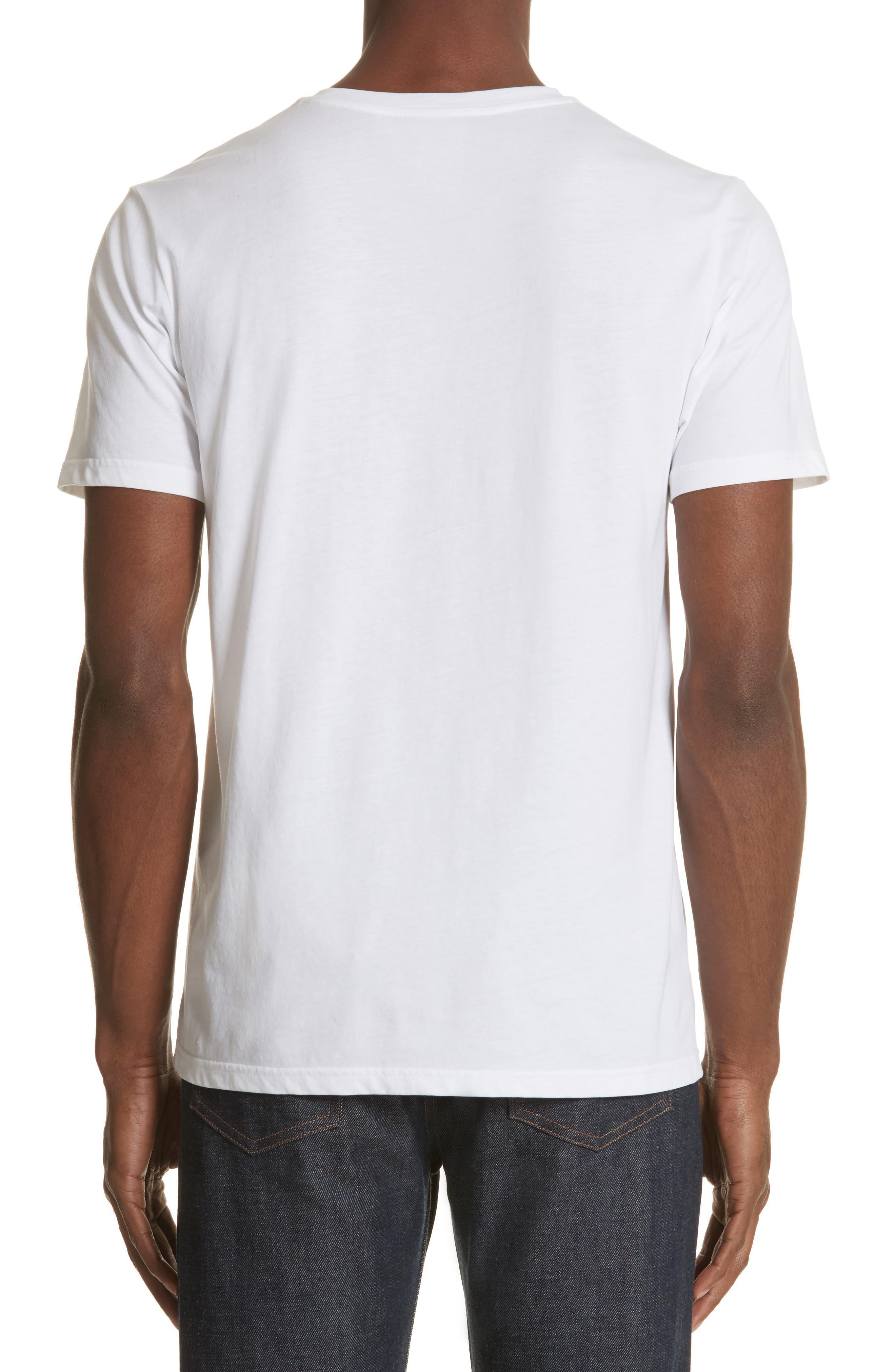 Seaview Print Pocket T-Shirt,                             Alternate thumbnail 2, color,                             WHITE