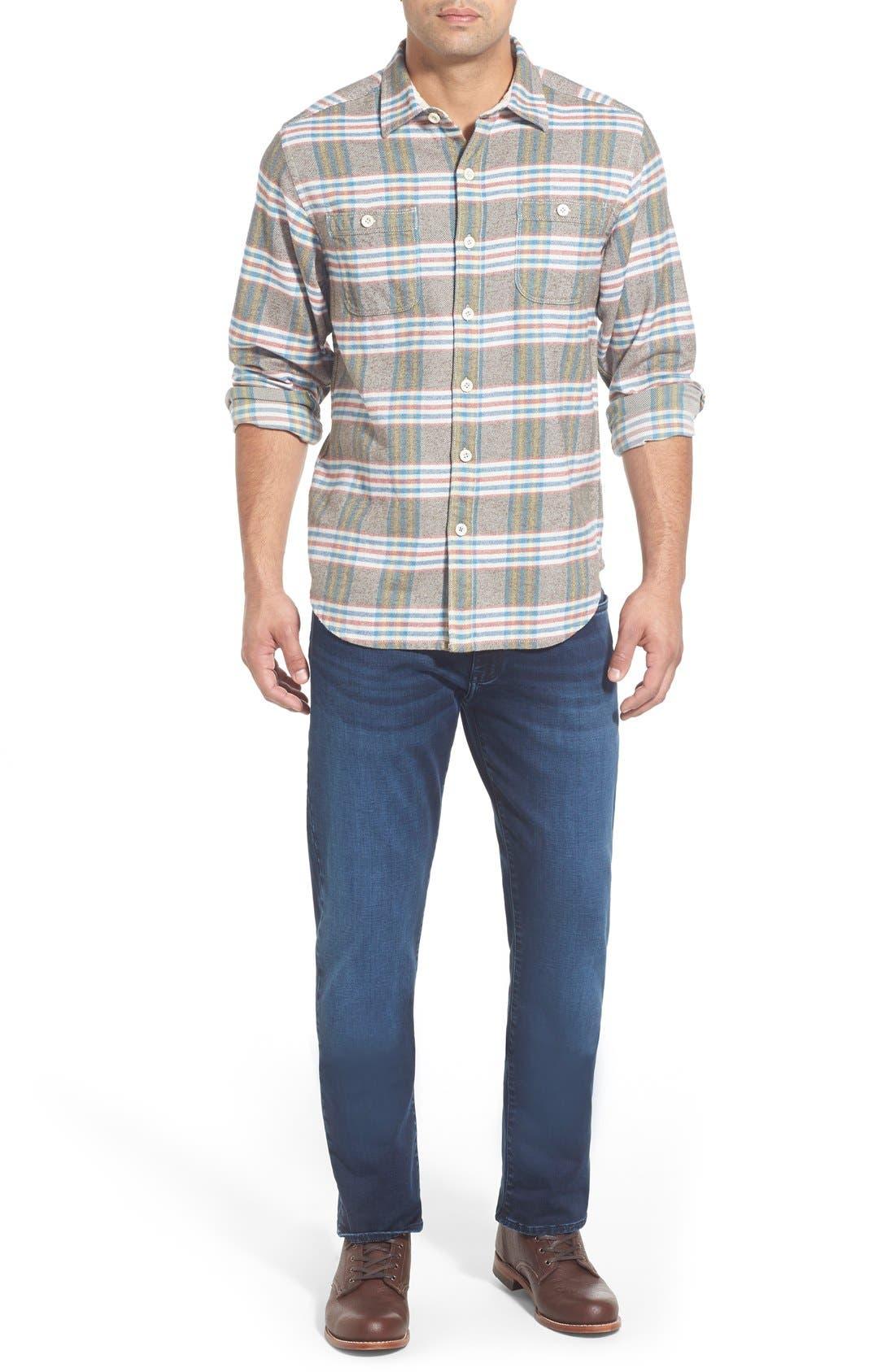'Flannel Time' Original FitPlaid Flannel Shirt,                             Alternate thumbnail 2, color,                             200