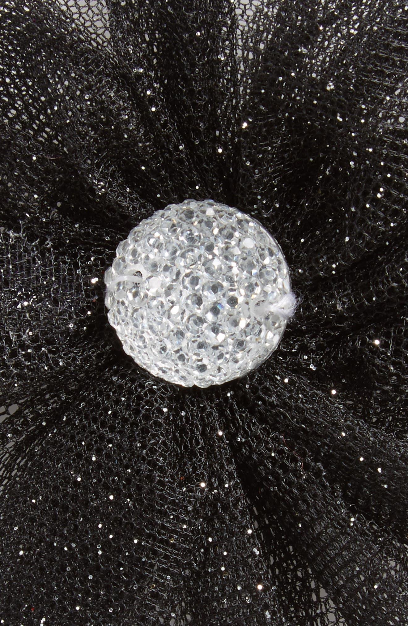 Glitter Flower Hair Clip,                             Alternate thumbnail 3, color,                             001