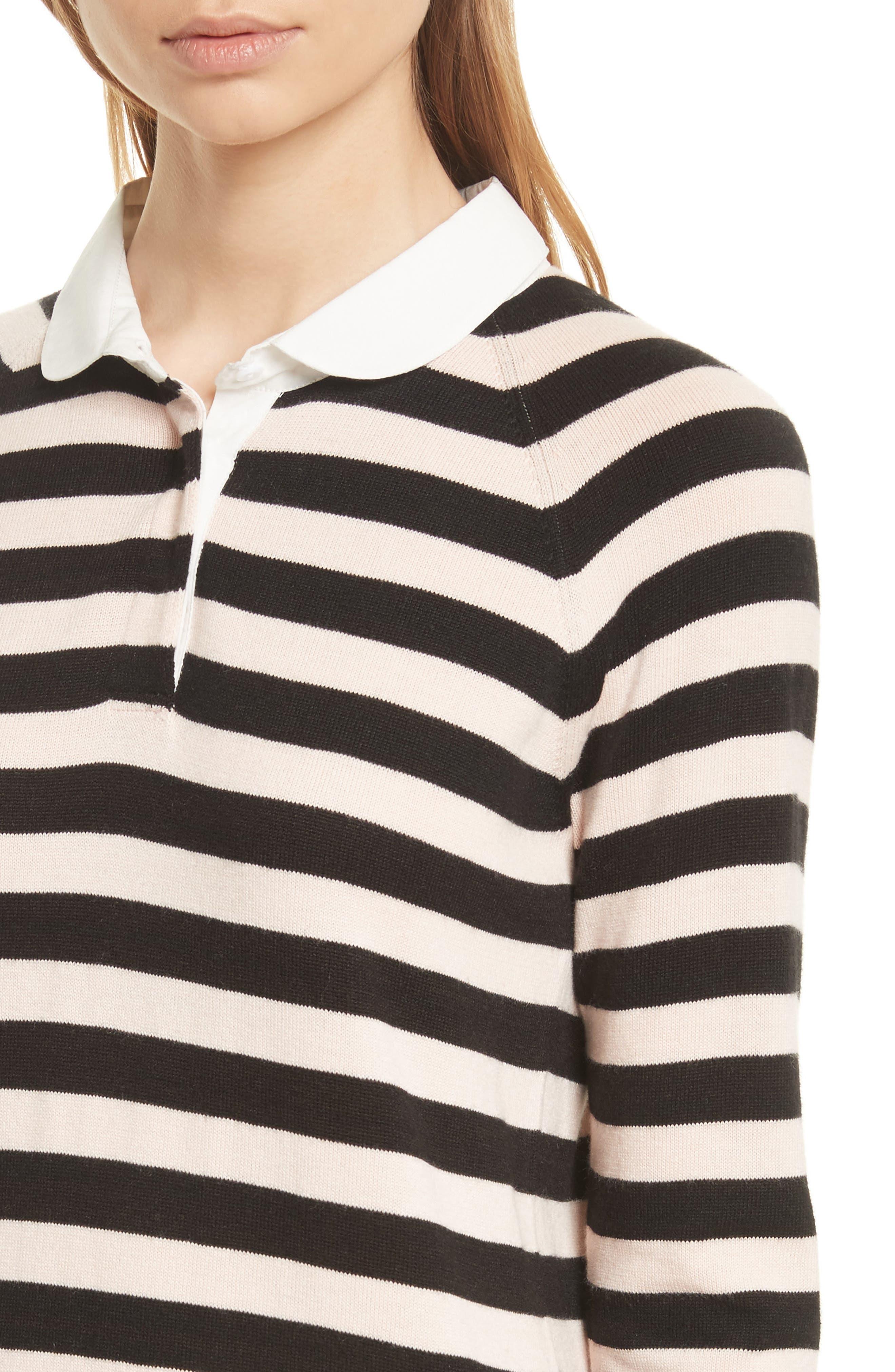 Gabbe Stripe Sweater,                             Alternate thumbnail 4, color,                             008