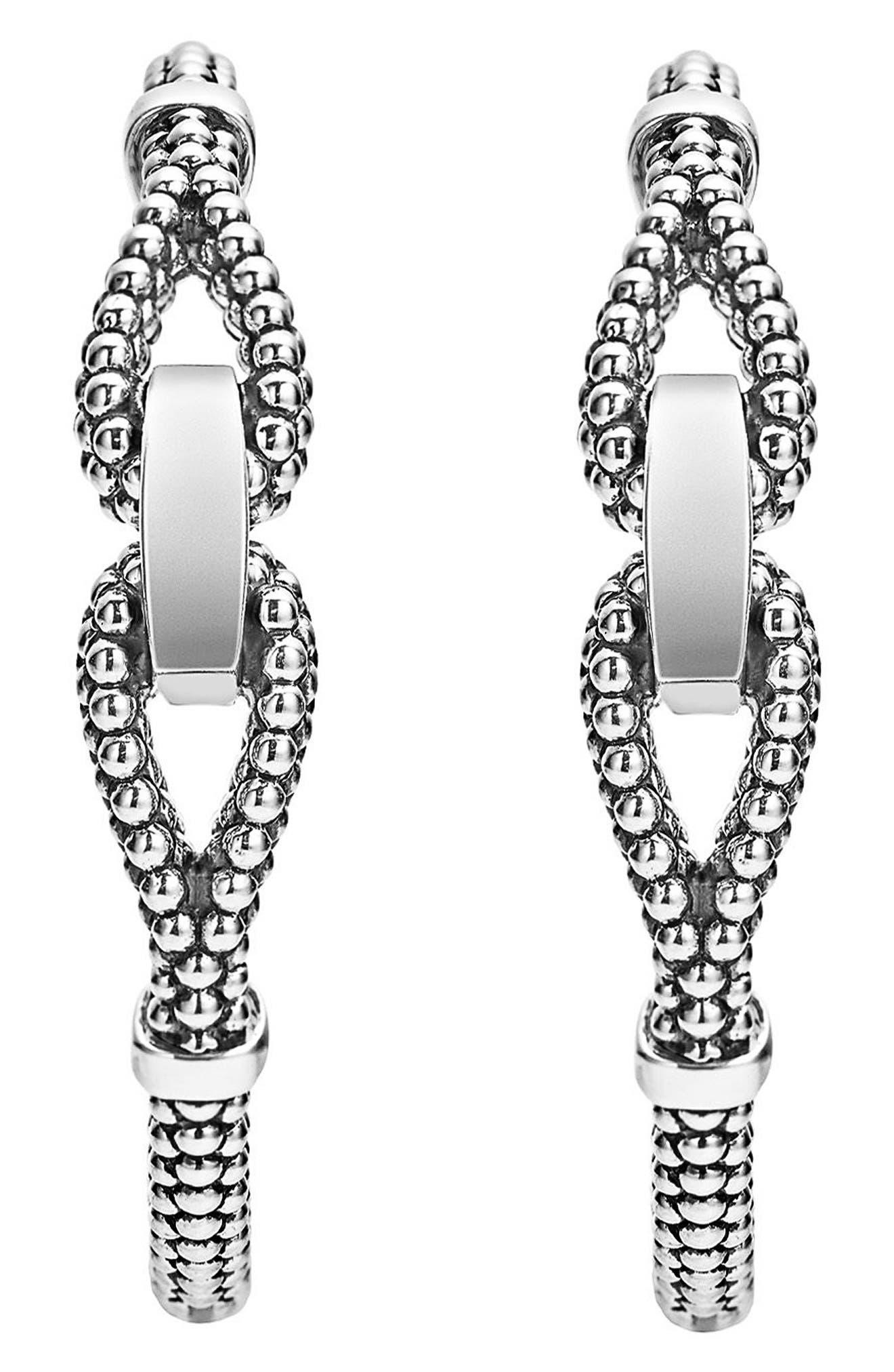 Derby Caviar Hoop Earrings,                             Alternate thumbnail 2, color,                             040