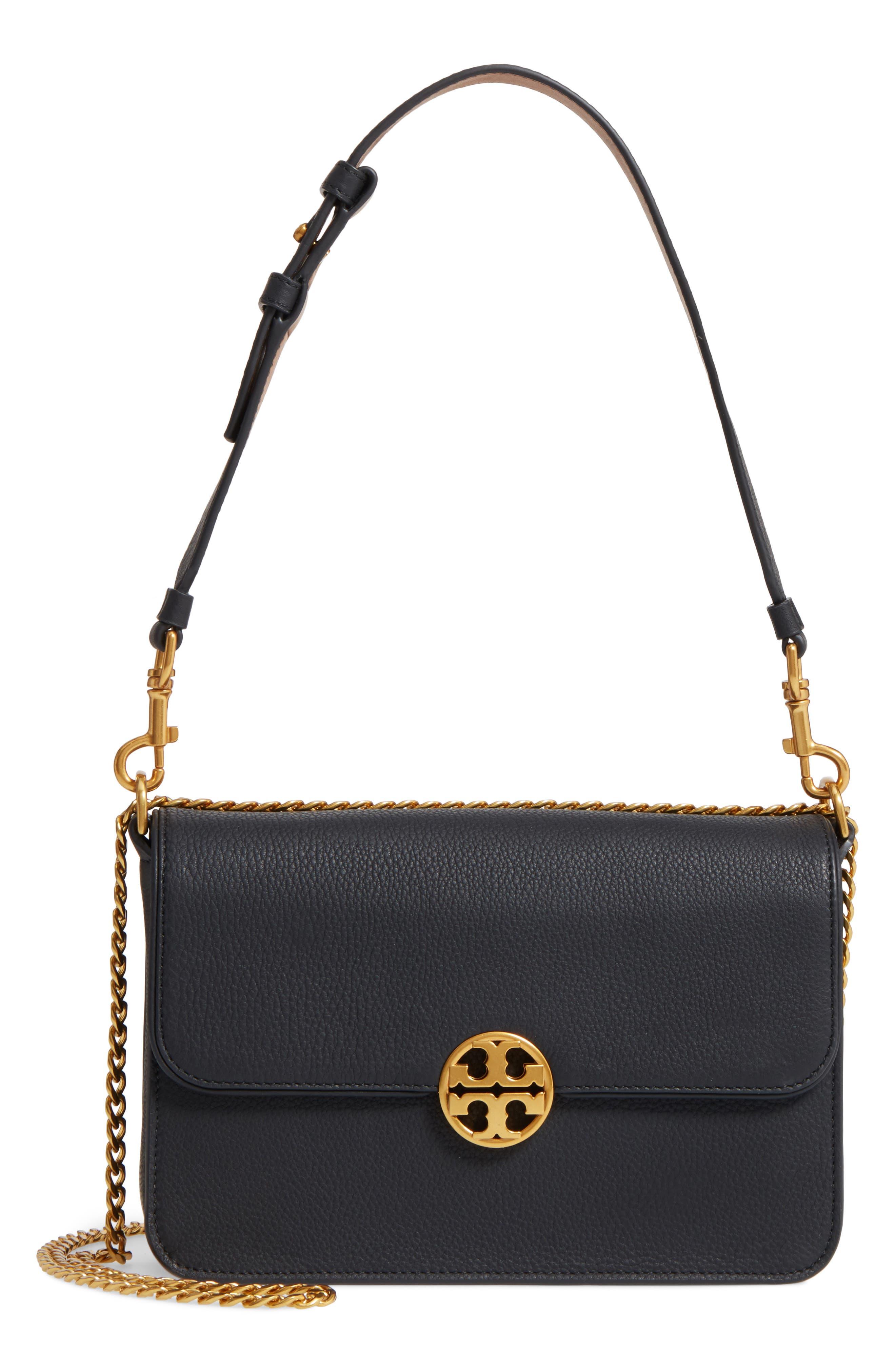 Chelsea Leather Shoulder Bag,                         Main,                         color, 001