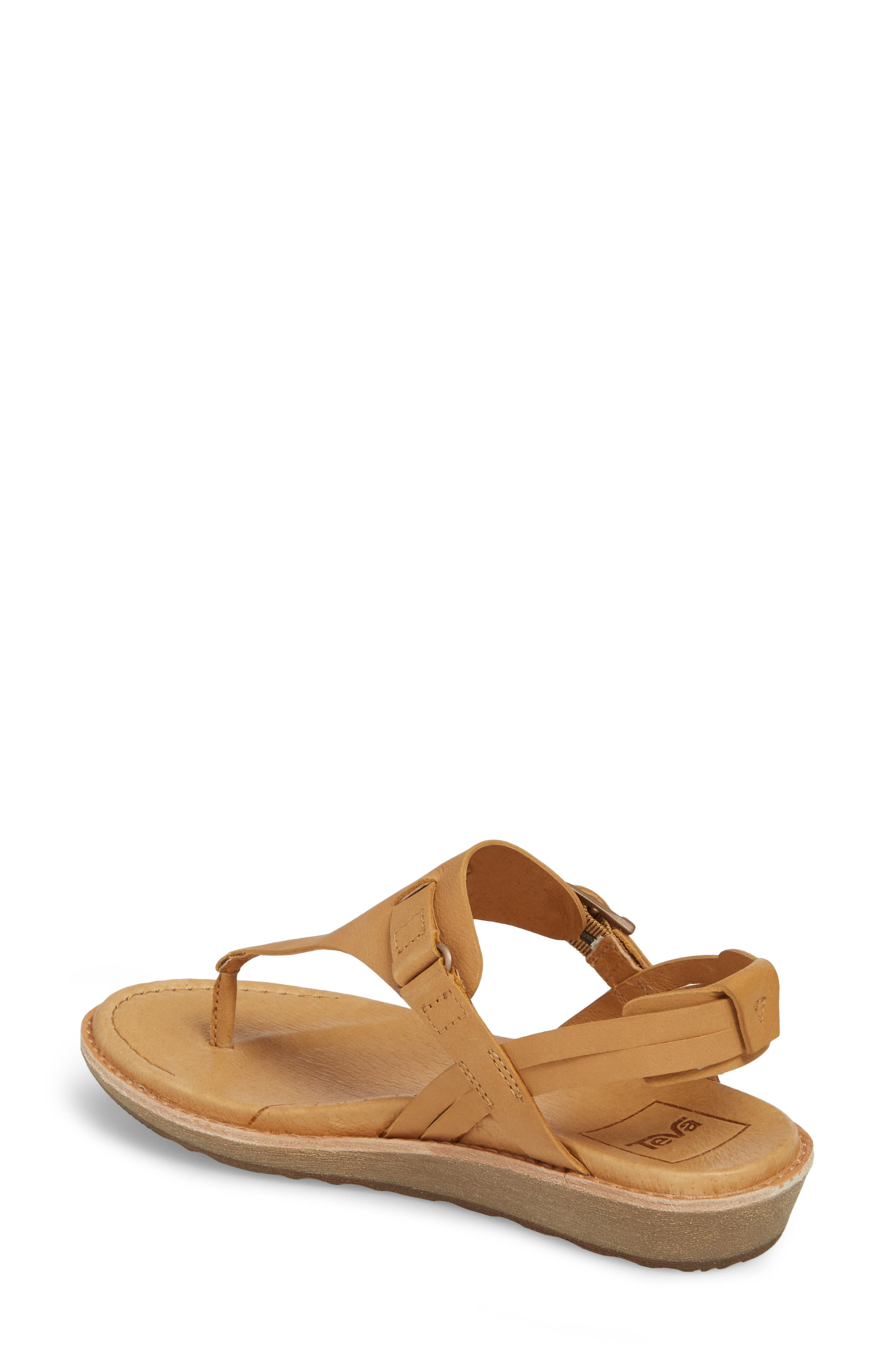 Encanta V-Strap Sandal,                             Alternate thumbnail 2, color,                             TAN