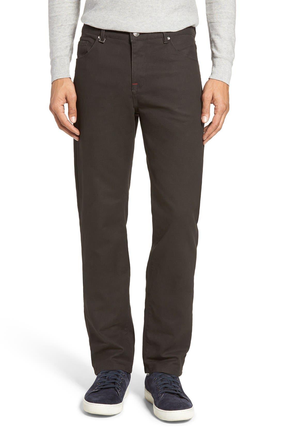 Slim Fit Five-Pocket Pants,                             Alternate thumbnail 6, color,                             020