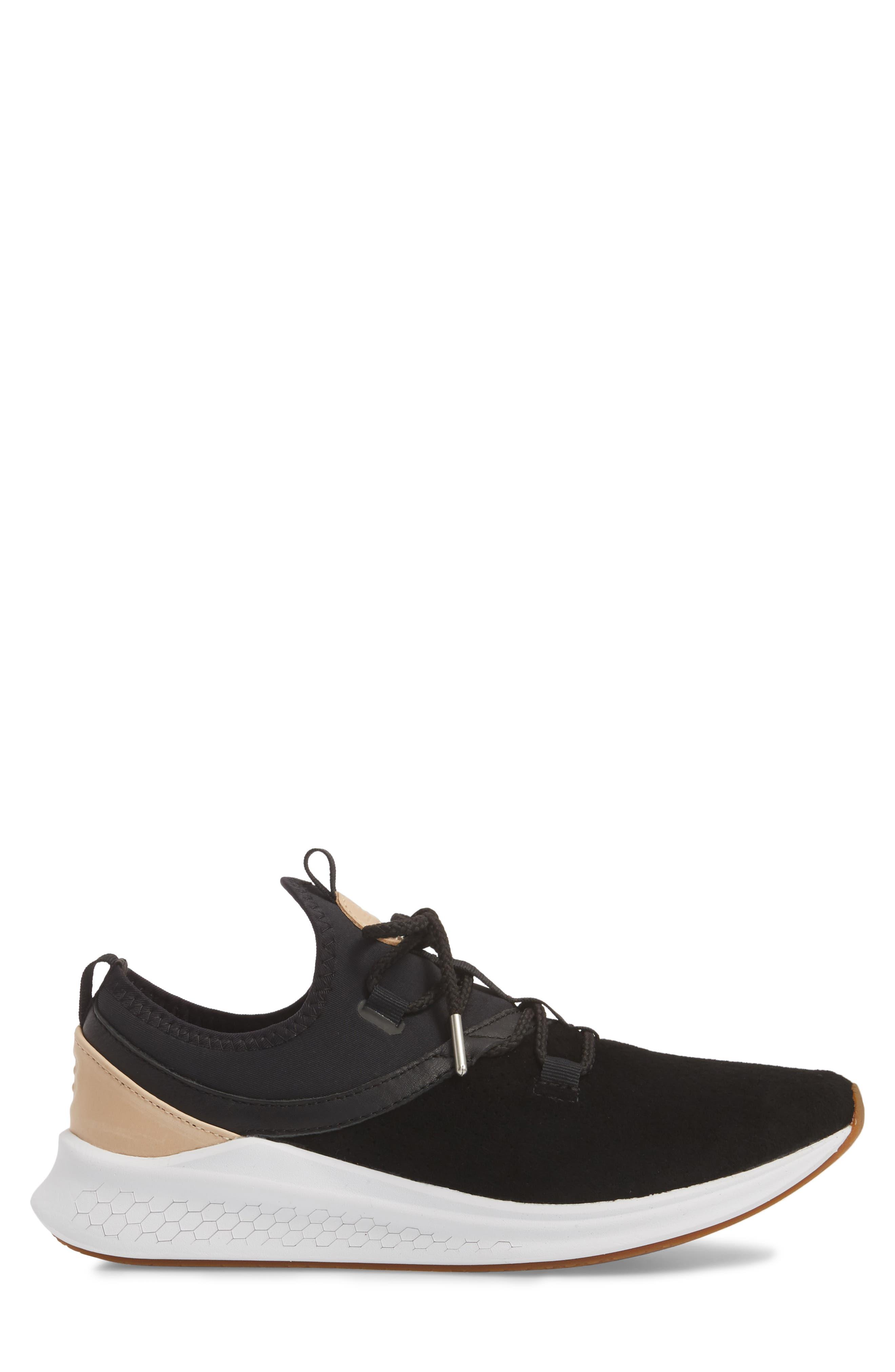 Fresh Foam Laser Luxe Sneaker,                             Alternate thumbnail 3, color,                             001