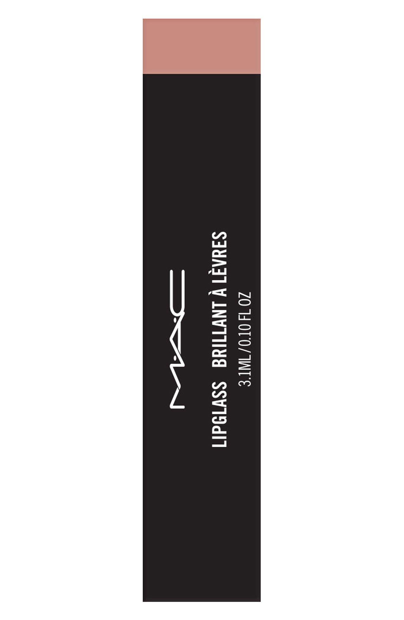 MAC Nudes Lipglass,                             Alternate thumbnail 3, color,                             200