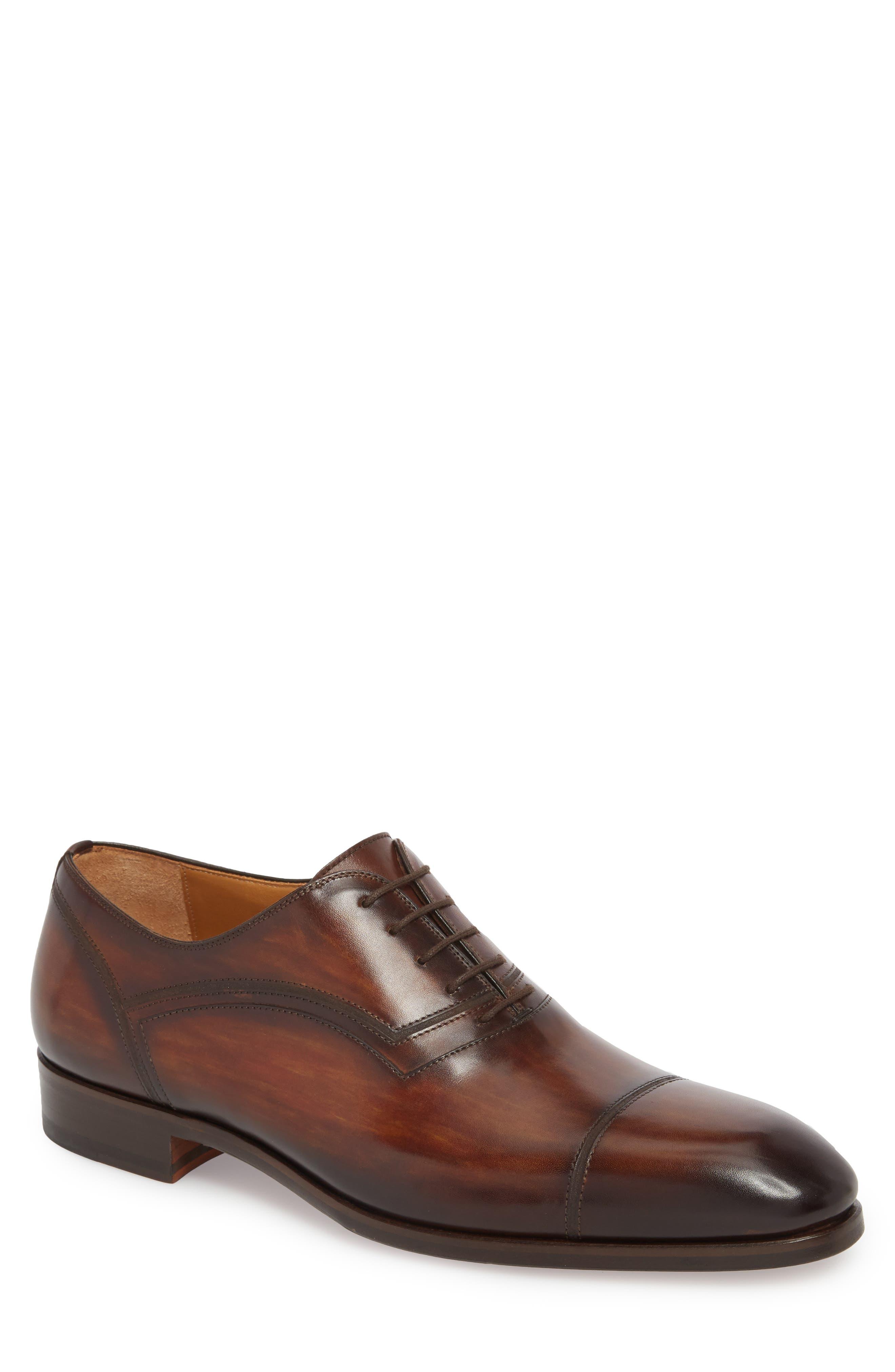 Cadiz Whole Cut Shoe,                         Main,                         color, TOBACCO LEATHER