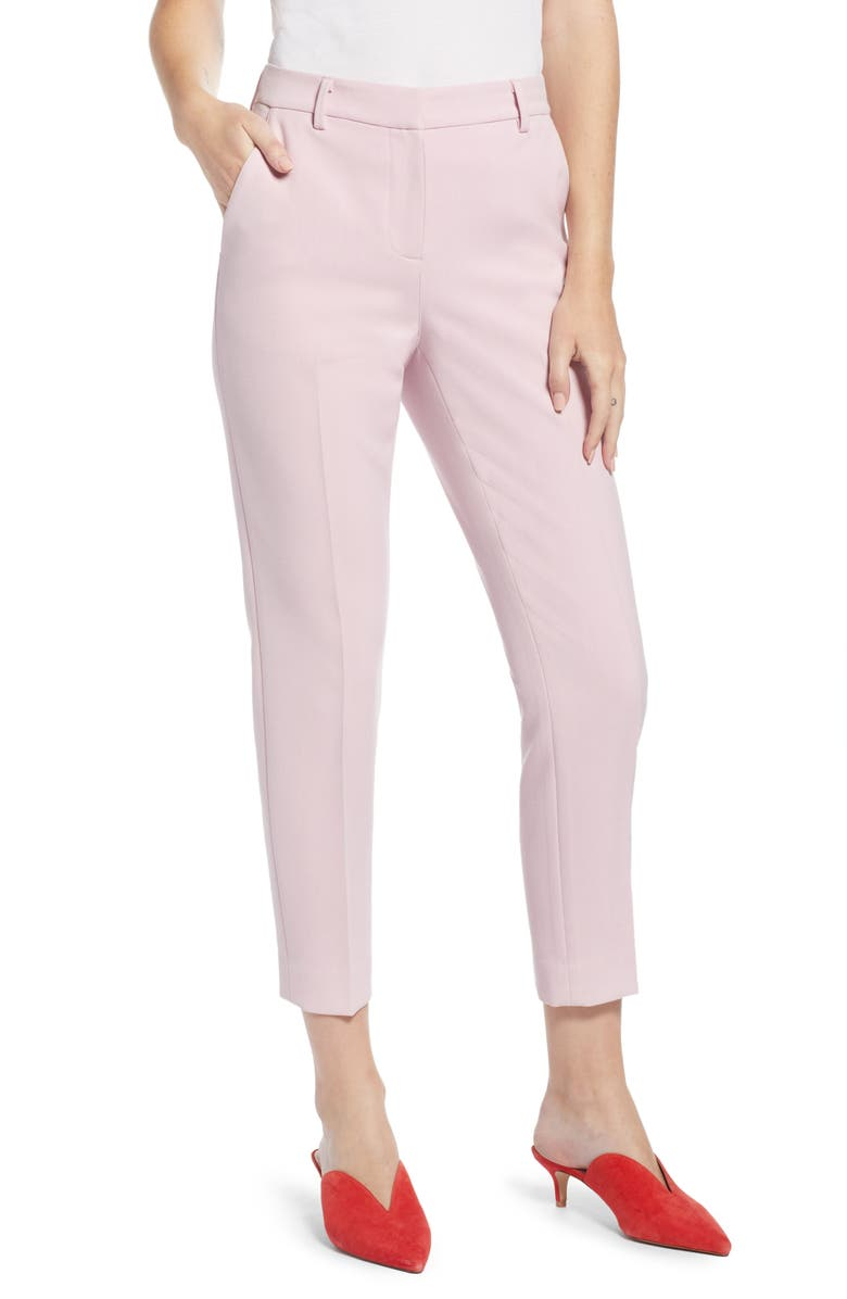 Something Navy Flat Front Trousers (Nordstrom Exclusive) | Nordstrom