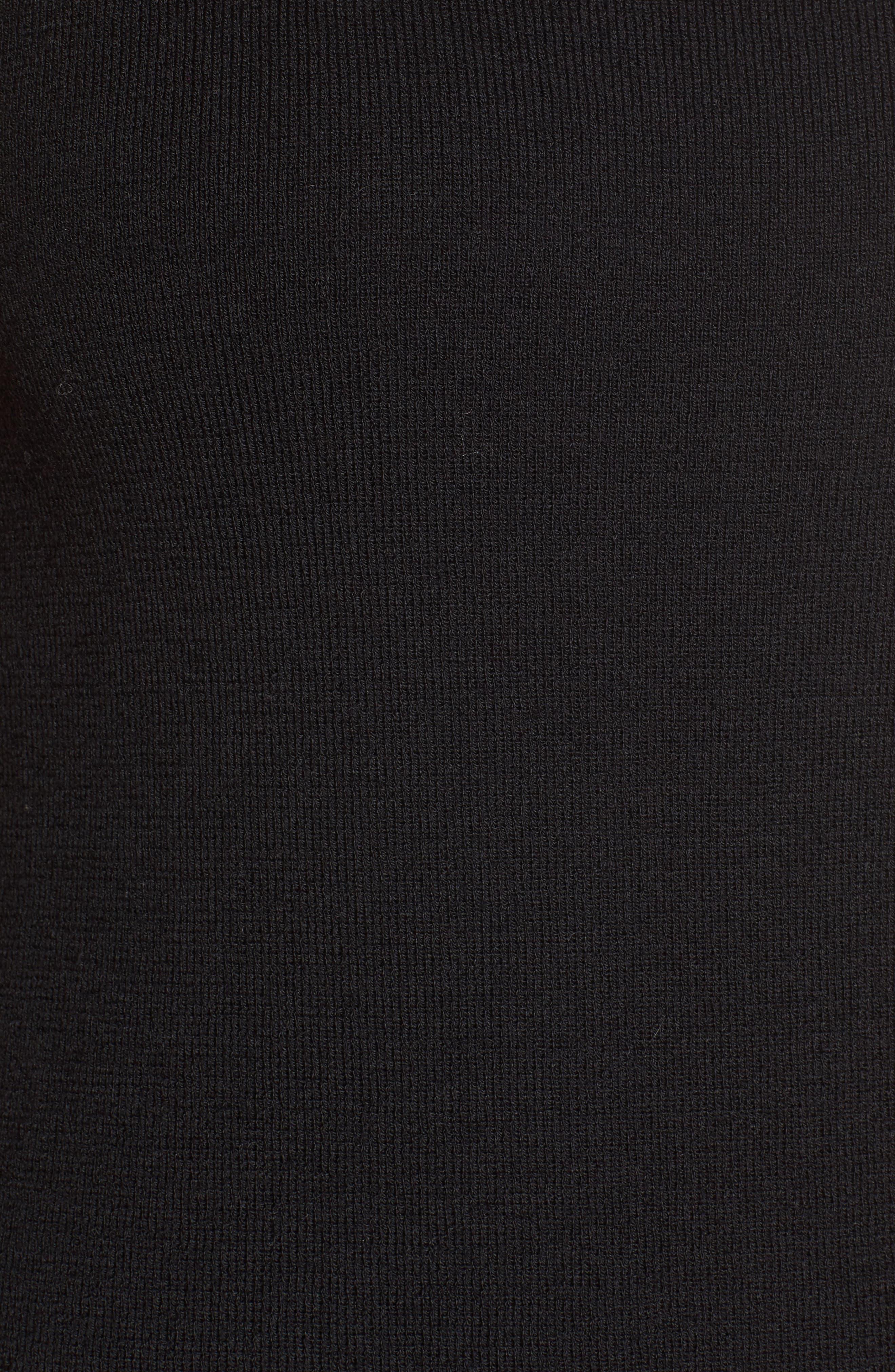 Wool Knit Tunic,                             Alternate thumbnail 5, color,                             001