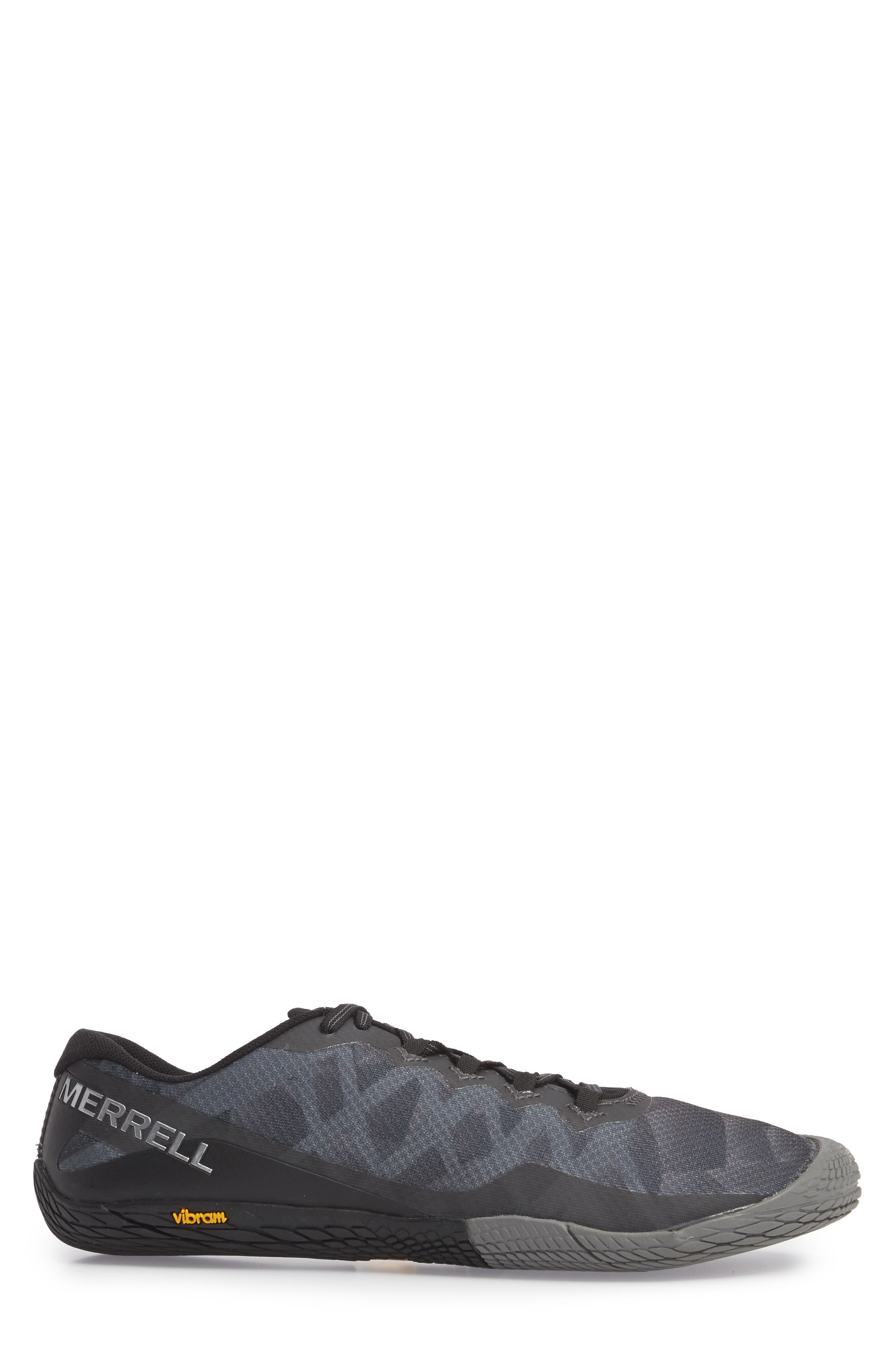 Vapor Glove 3 Trail Running Shoe,                             Alternate thumbnail 3, color,                             BLACK/ SILVER