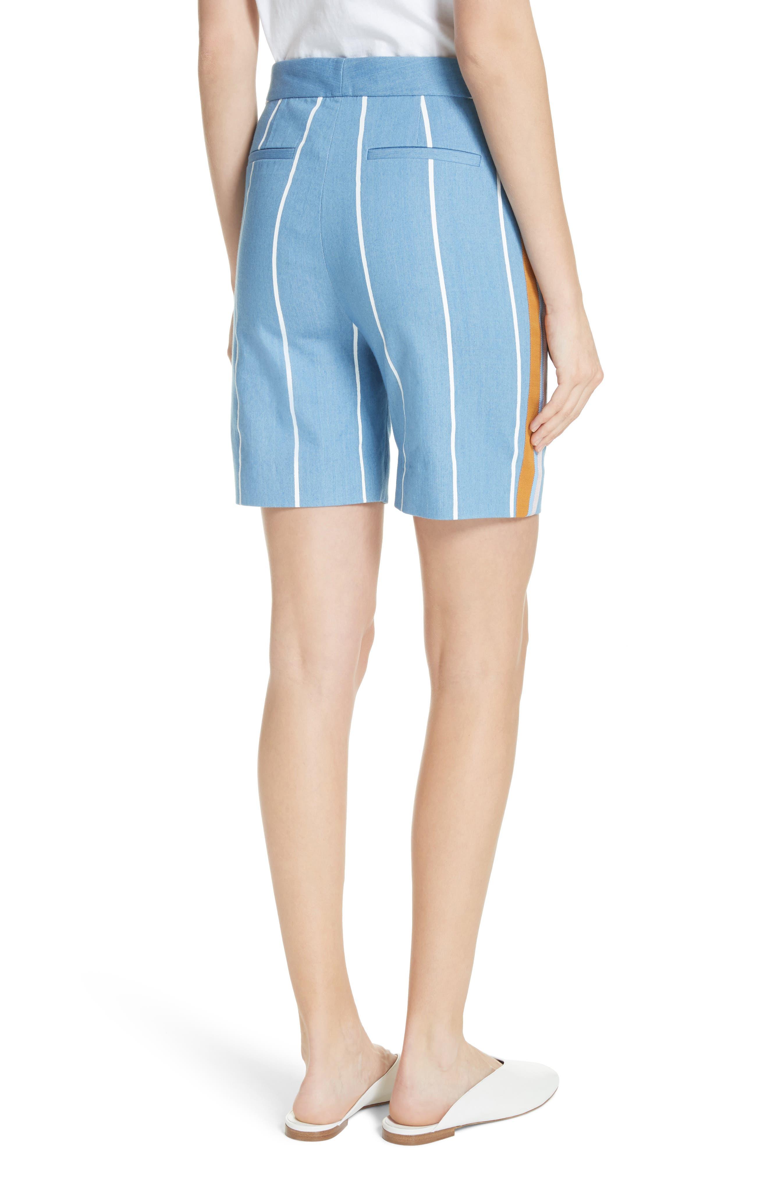 Stripe Slim Shorts,                             Alternate thumbnail 2, color,