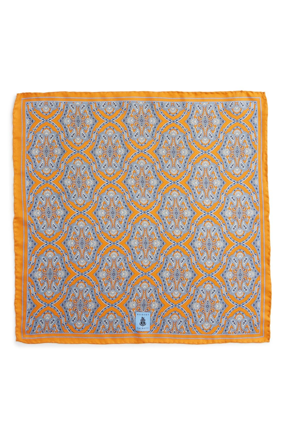 Medallion Silk Pocket Square,                             Alternate thumbnail 15, color,