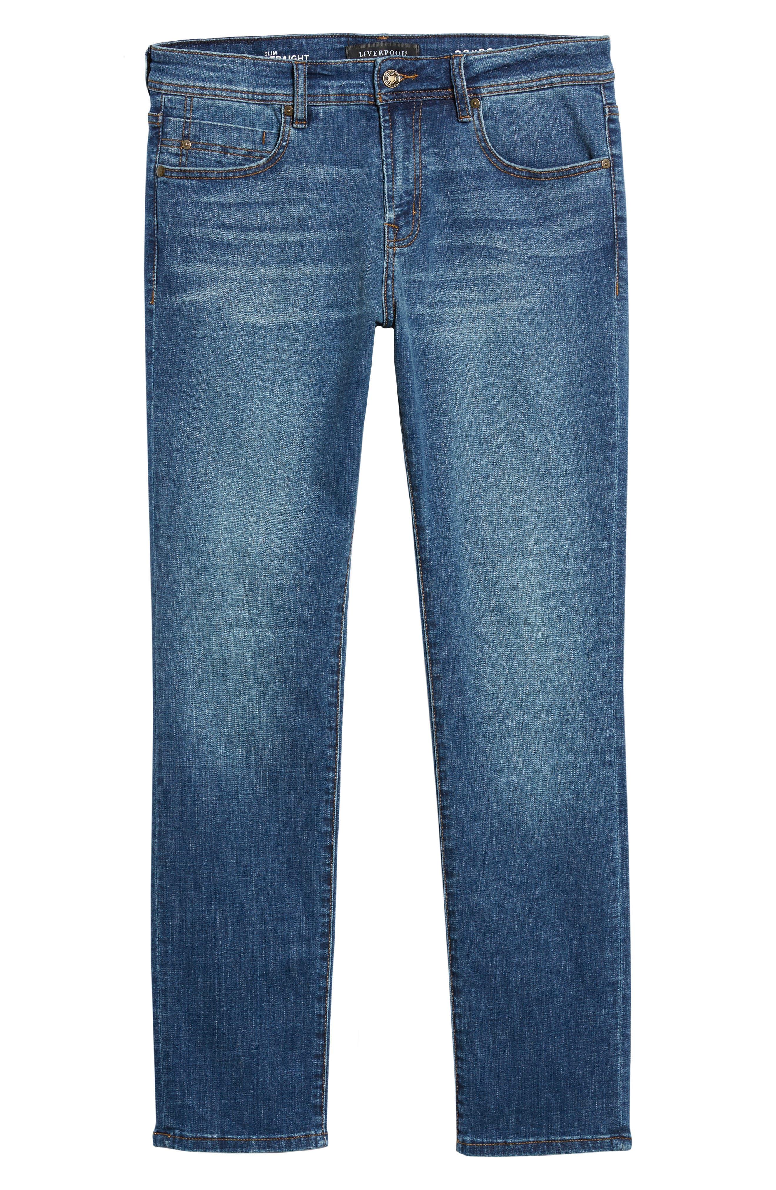 Jeans Co. Kingston Slim Straight Leg Jeans,                             Alternate thumbnail 6, color,                             HIGHLANDER MID