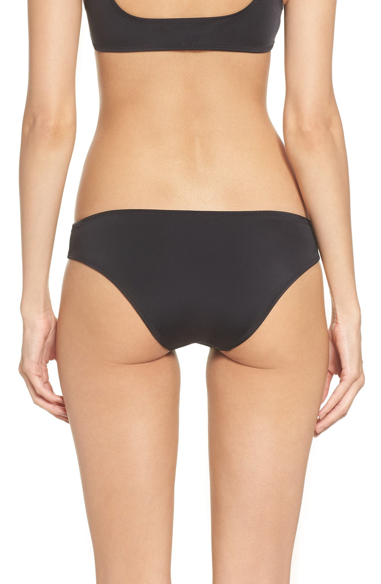 Elle Bikini Bottoms,                             Alternate thumbnail 2, color,                             BLACK