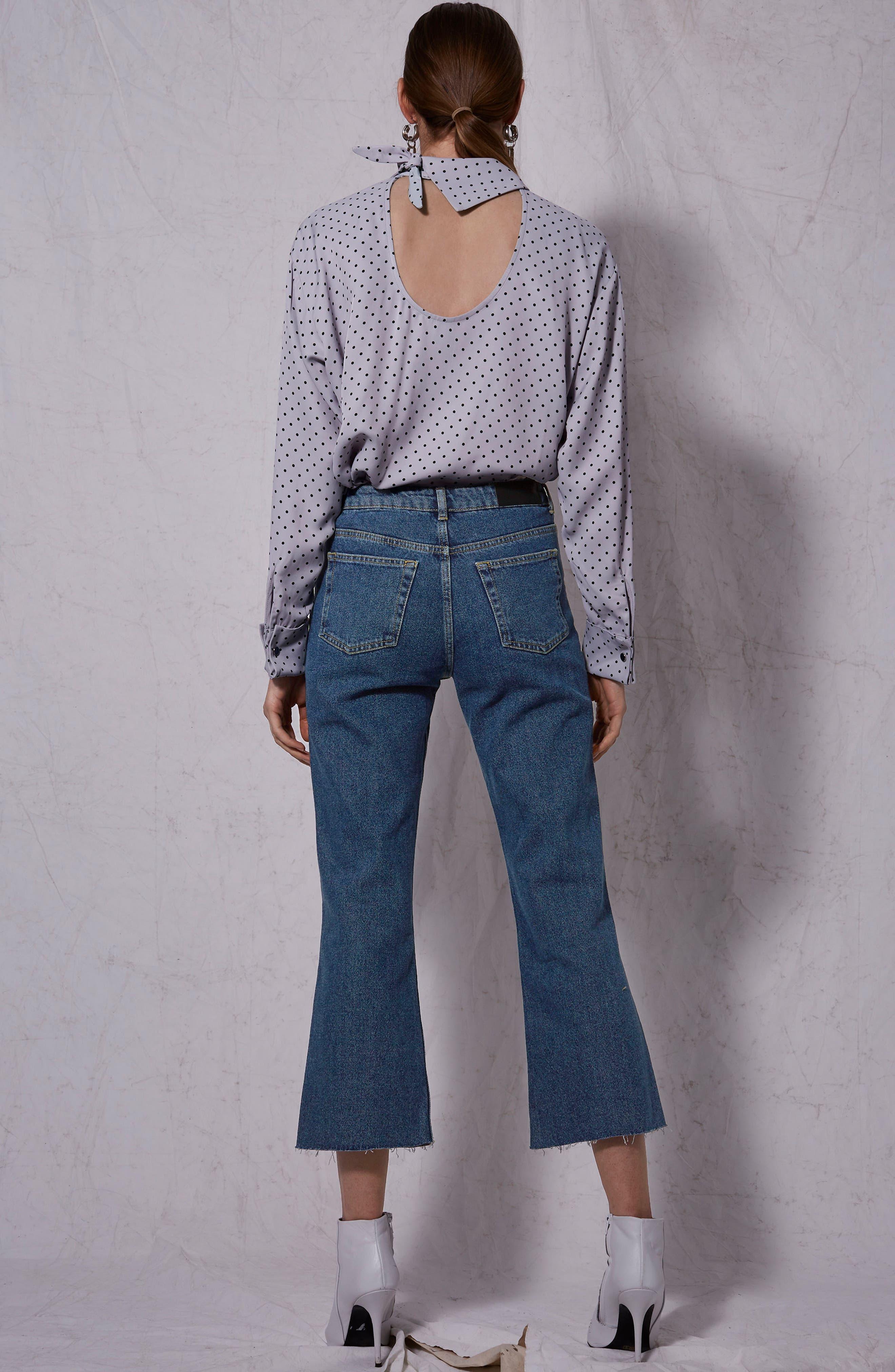 Raw Hem Kick Flare Jeans,                             Alternate thumbnail 5, color,                             003