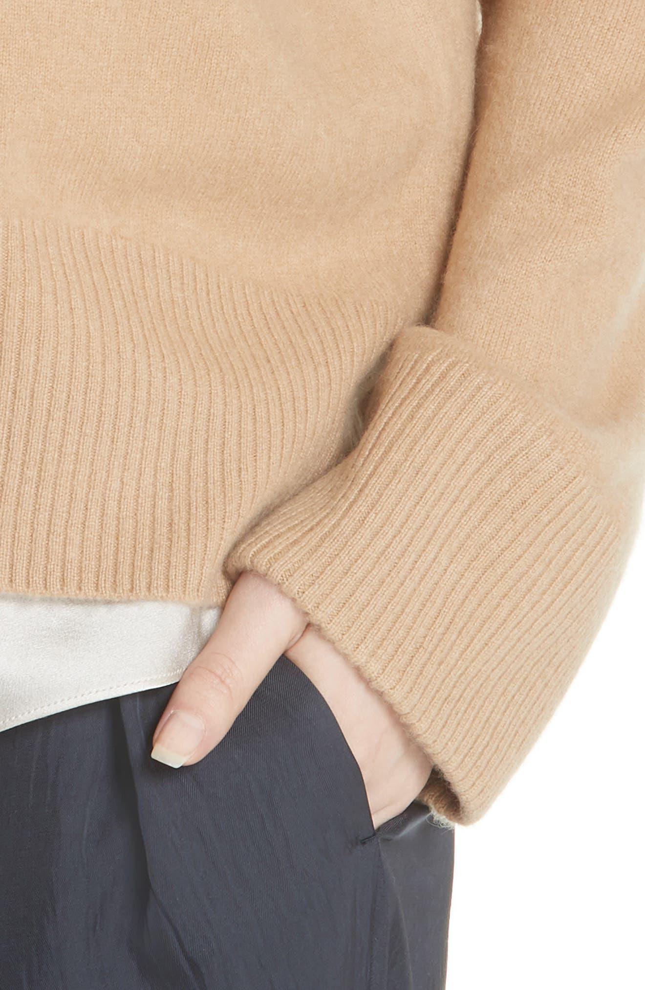 Cashmere Oversize Sweater,                             Alternate thumbnail 4, color,                             203