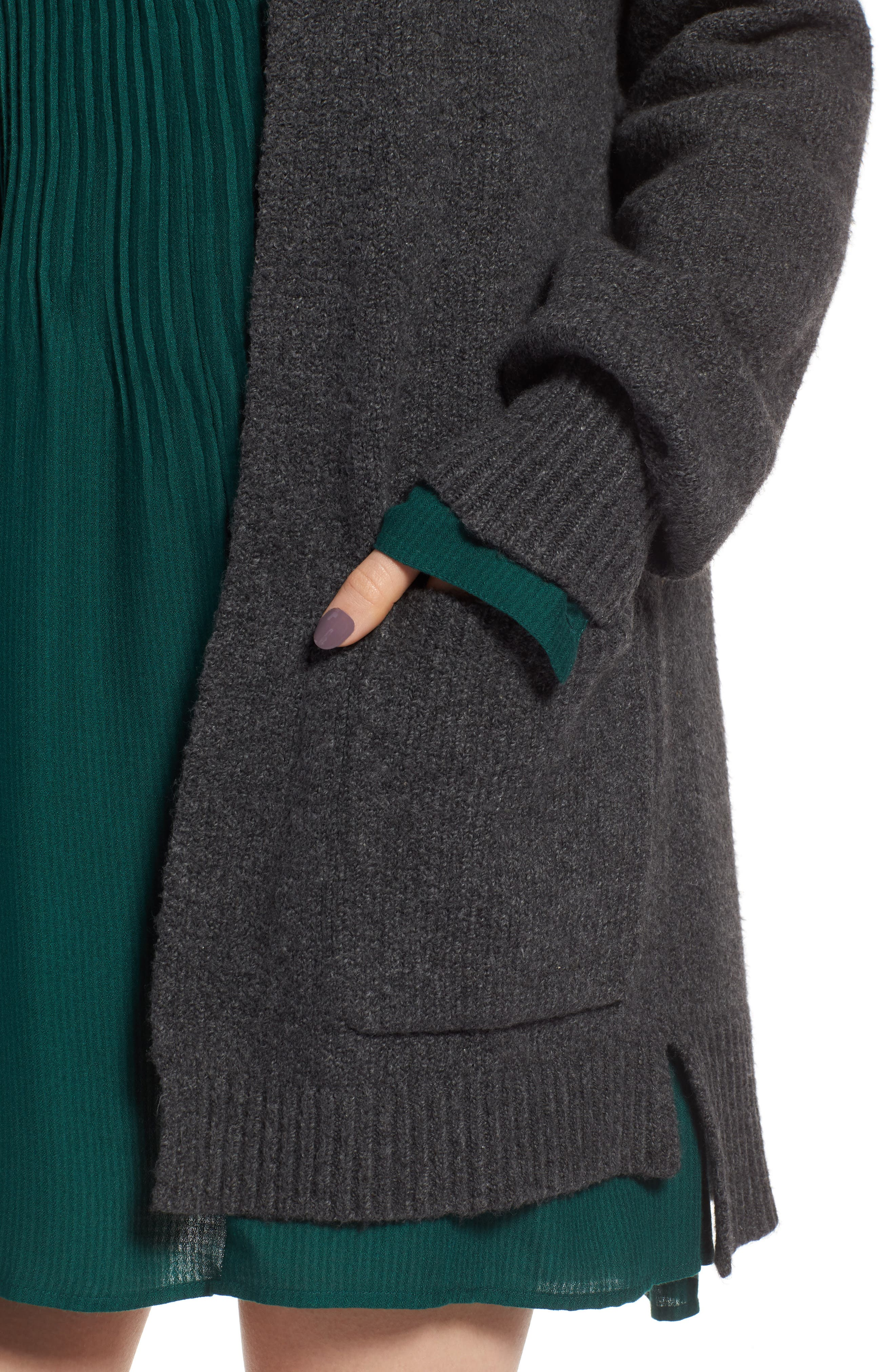 Easy Throw-On Cardigan,                             Alternate thumbnail 4, color,                             030