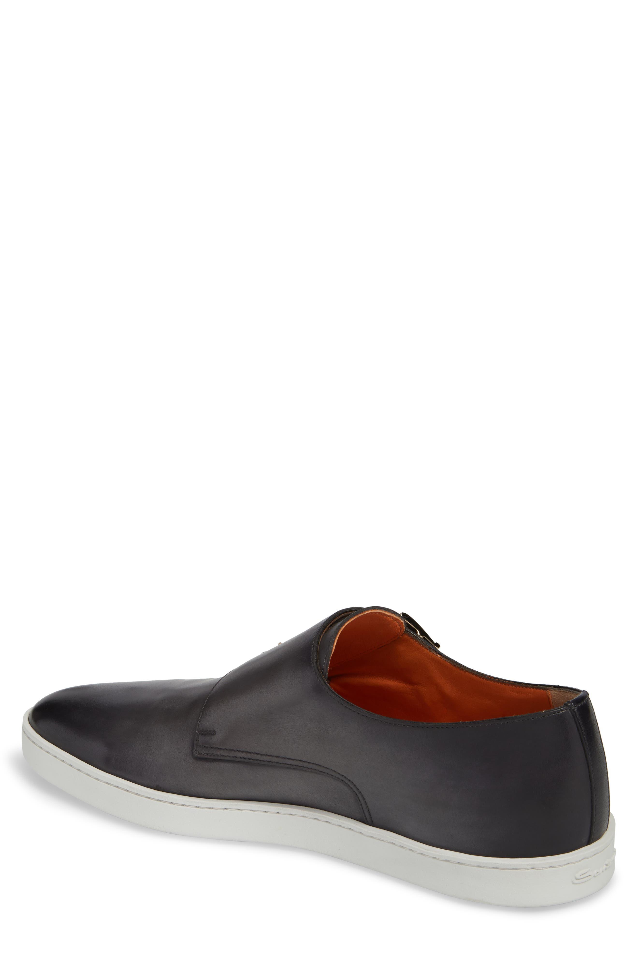 Freemont Double Monk Strap Shoe,                             Alternate thumbnail 2, color,                             GREY